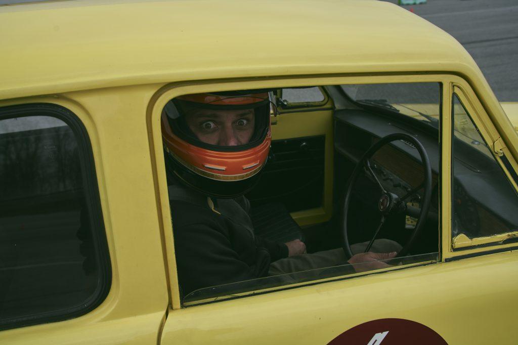 1971 Reliant Regal 330 driver expression