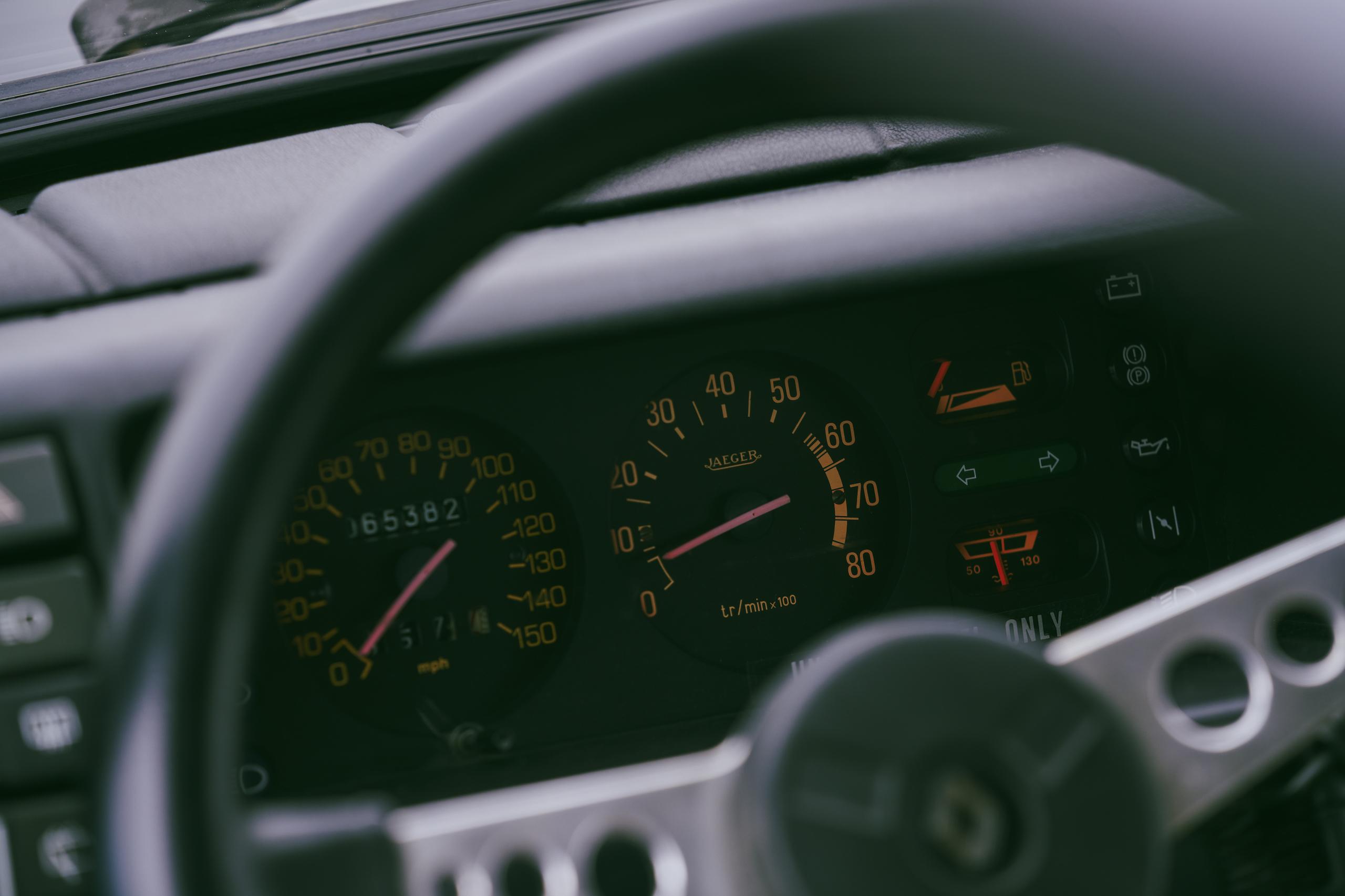 1985 Renault R5 Turbo 2 interior gauges detail