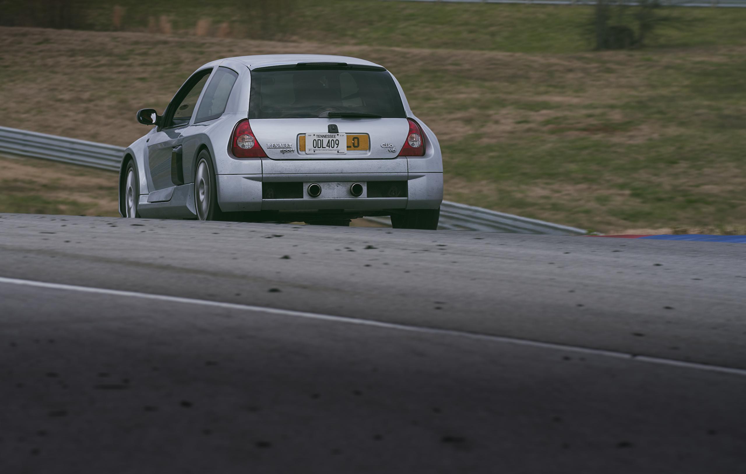 2002 Renault Clio V6 rear three-quarter track action