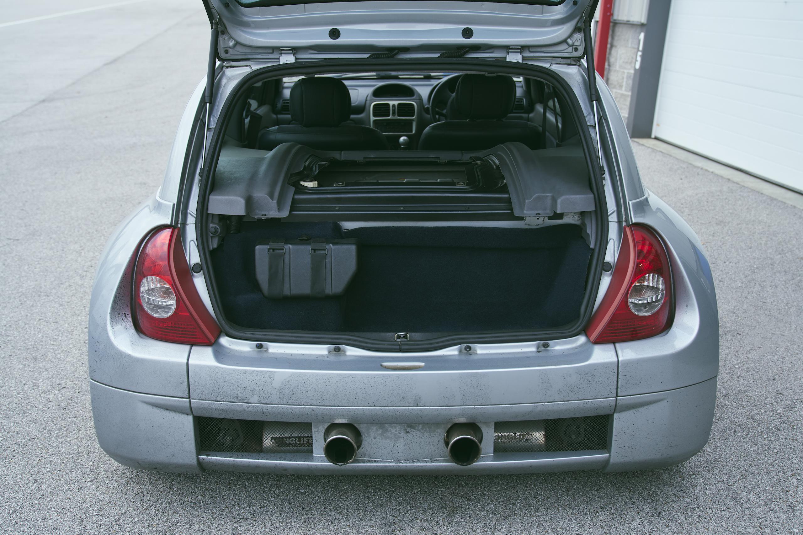 2002 Renault Clio V6 rear open hatch