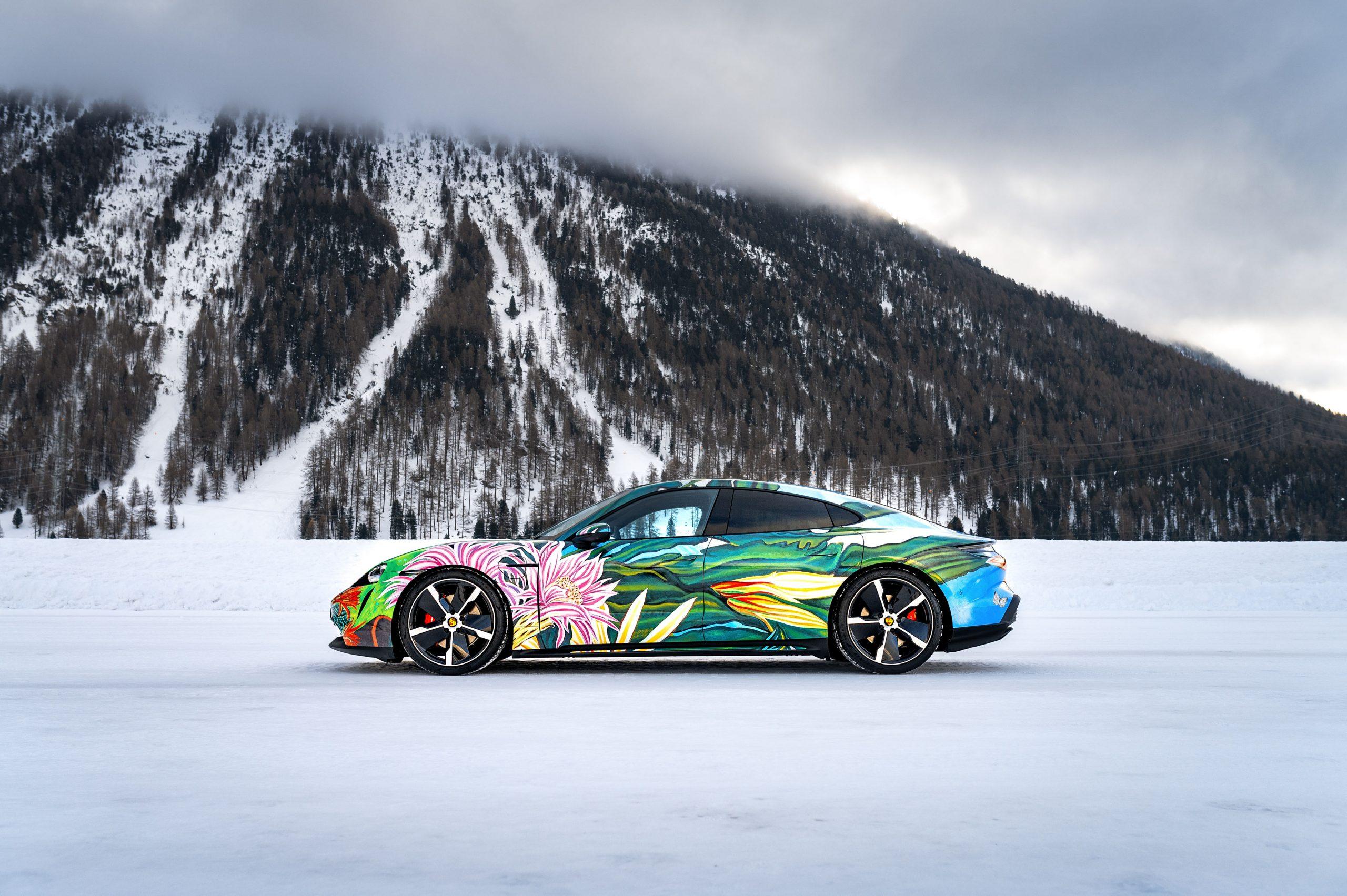 2020 Porsche Taycan 4S Artcar by Richard Phillips