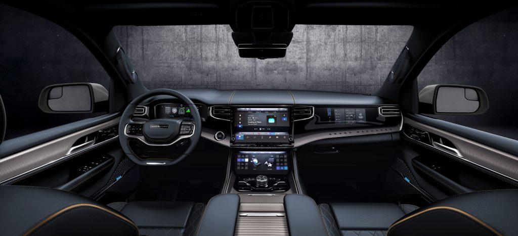 2022 Wagoneer exterior Blue Agave interior