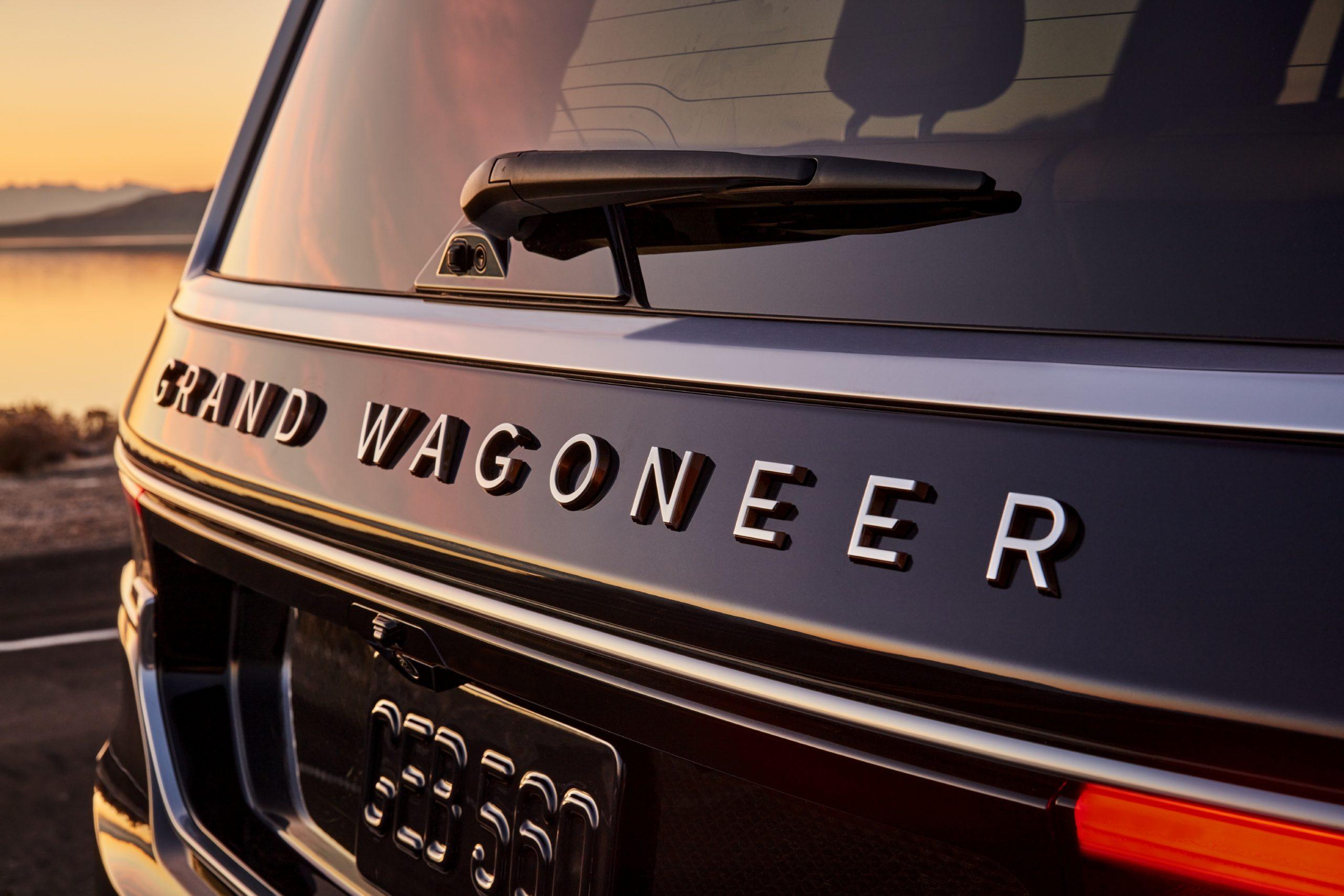 2022 Grand Wagoneer exterior detail name badge