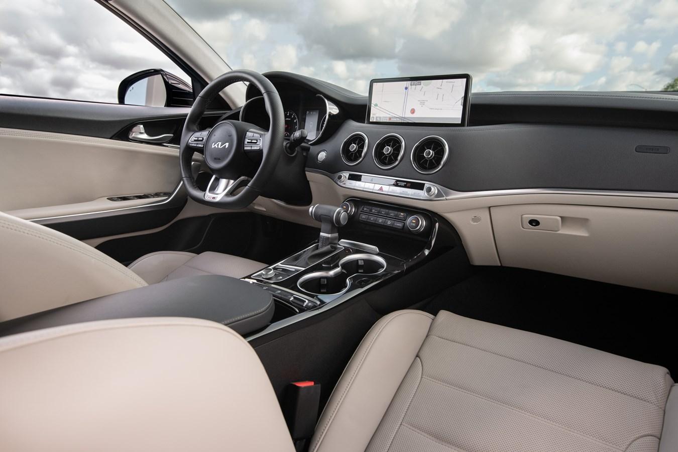 2022 Stinger GT-Line interior front angle