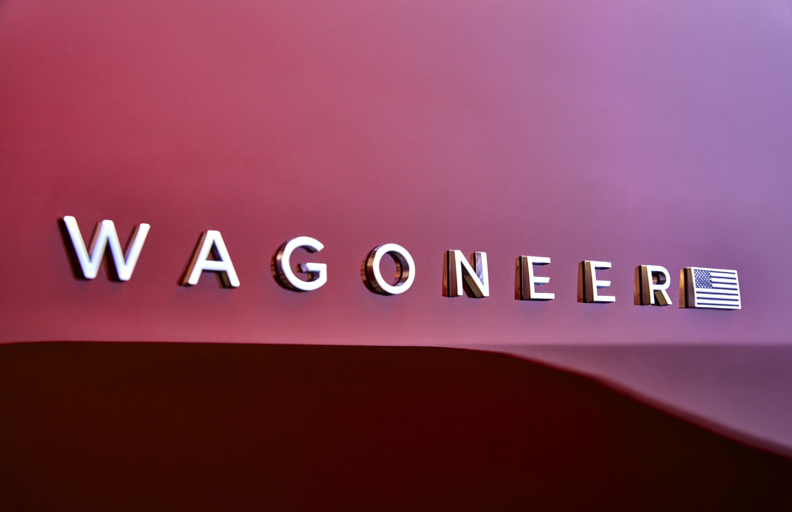 2022 Wagoneer exterior detail badge with flag