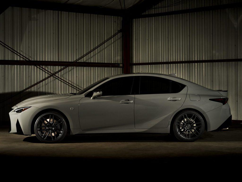 2022 Lexus IS 500 F Sport Launch Edition side profile