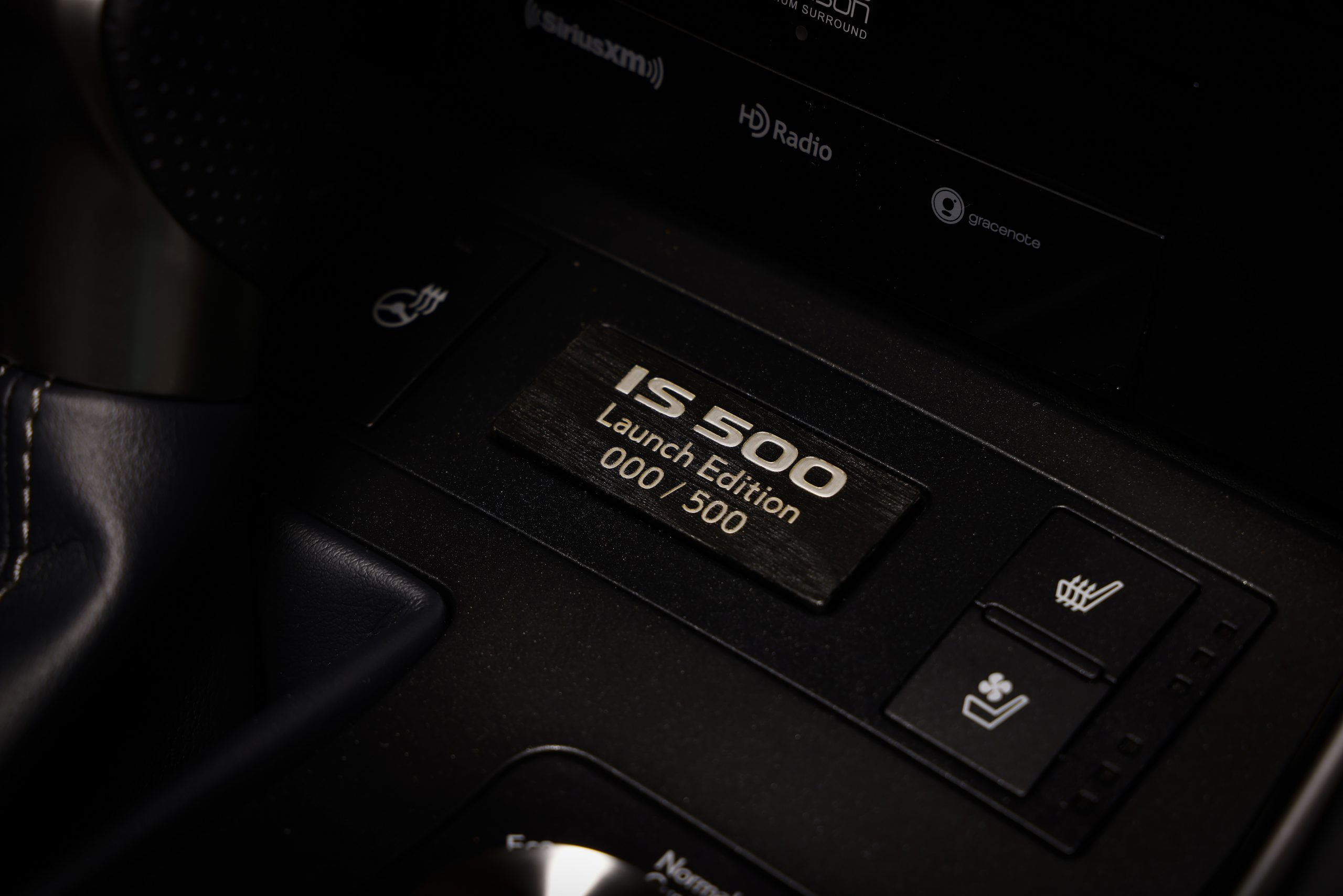 2022 Lexus IS 500 F Sport Launch Edition serialized plate