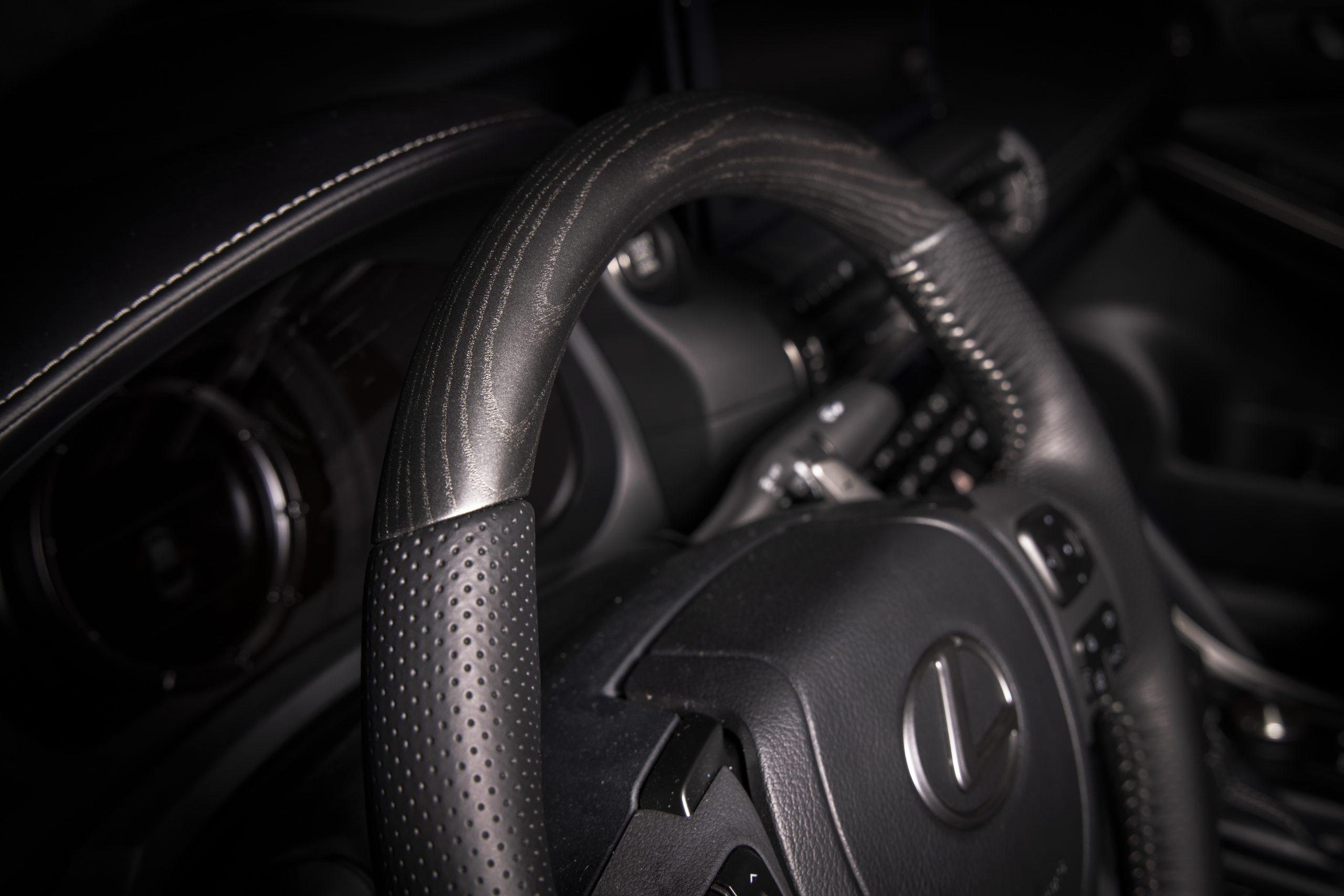 2022 Lexus IS 500 F Sport Launch Edition steering wheel detail