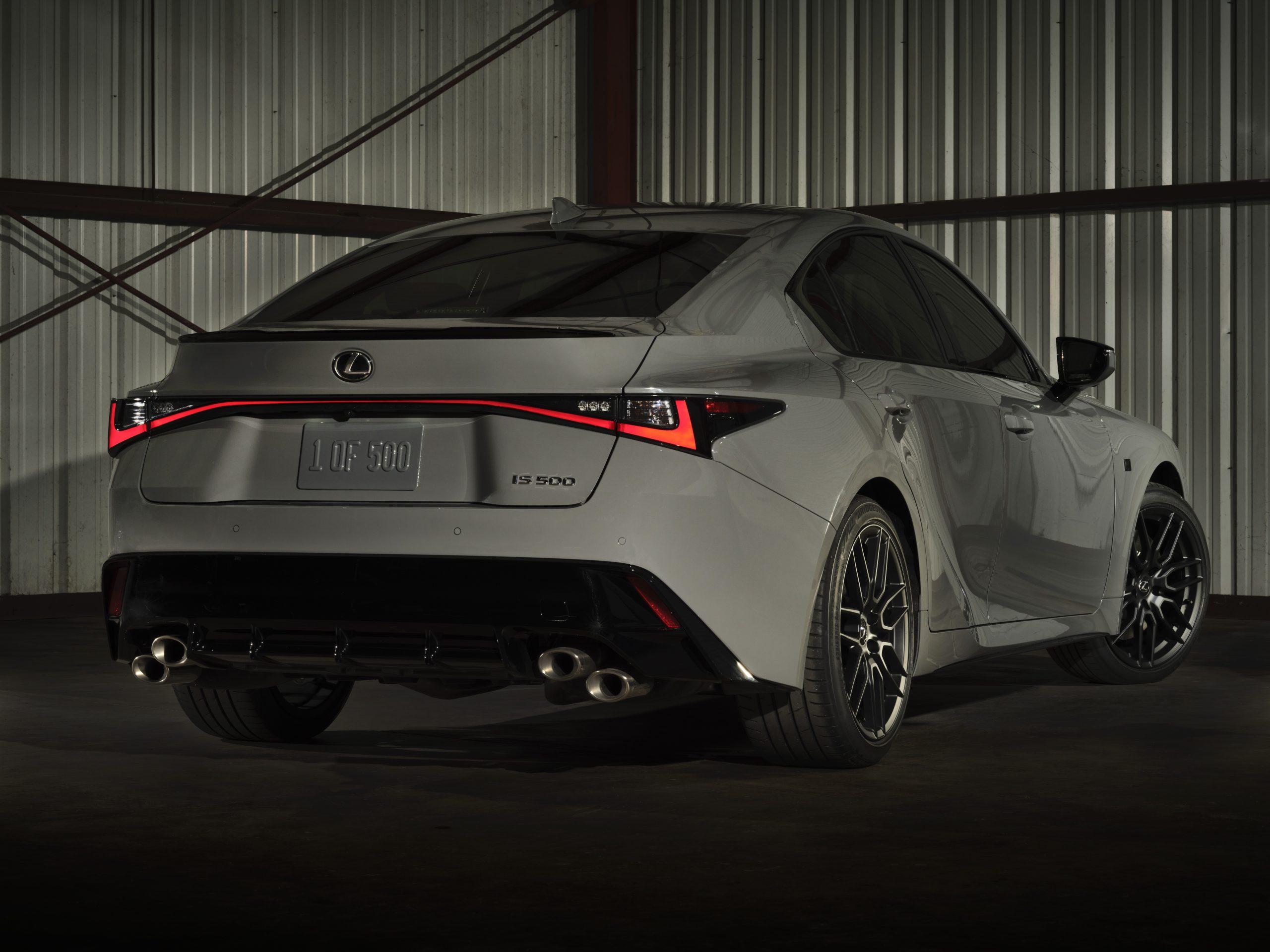 2022 Lexus IS 500 F Sport Launch Edition rear three quarter