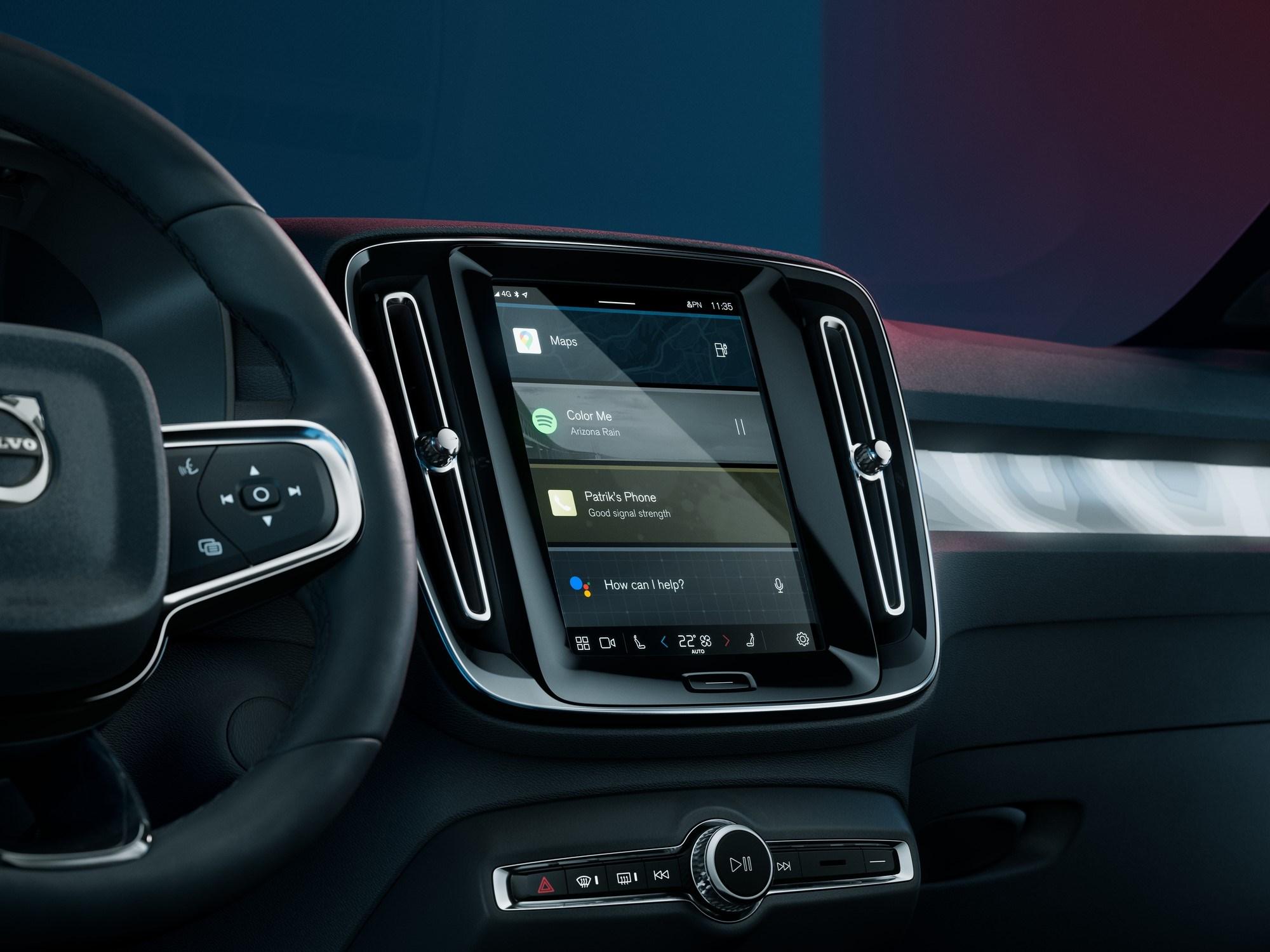 Volvo C40 Recharge interior android auto sensus