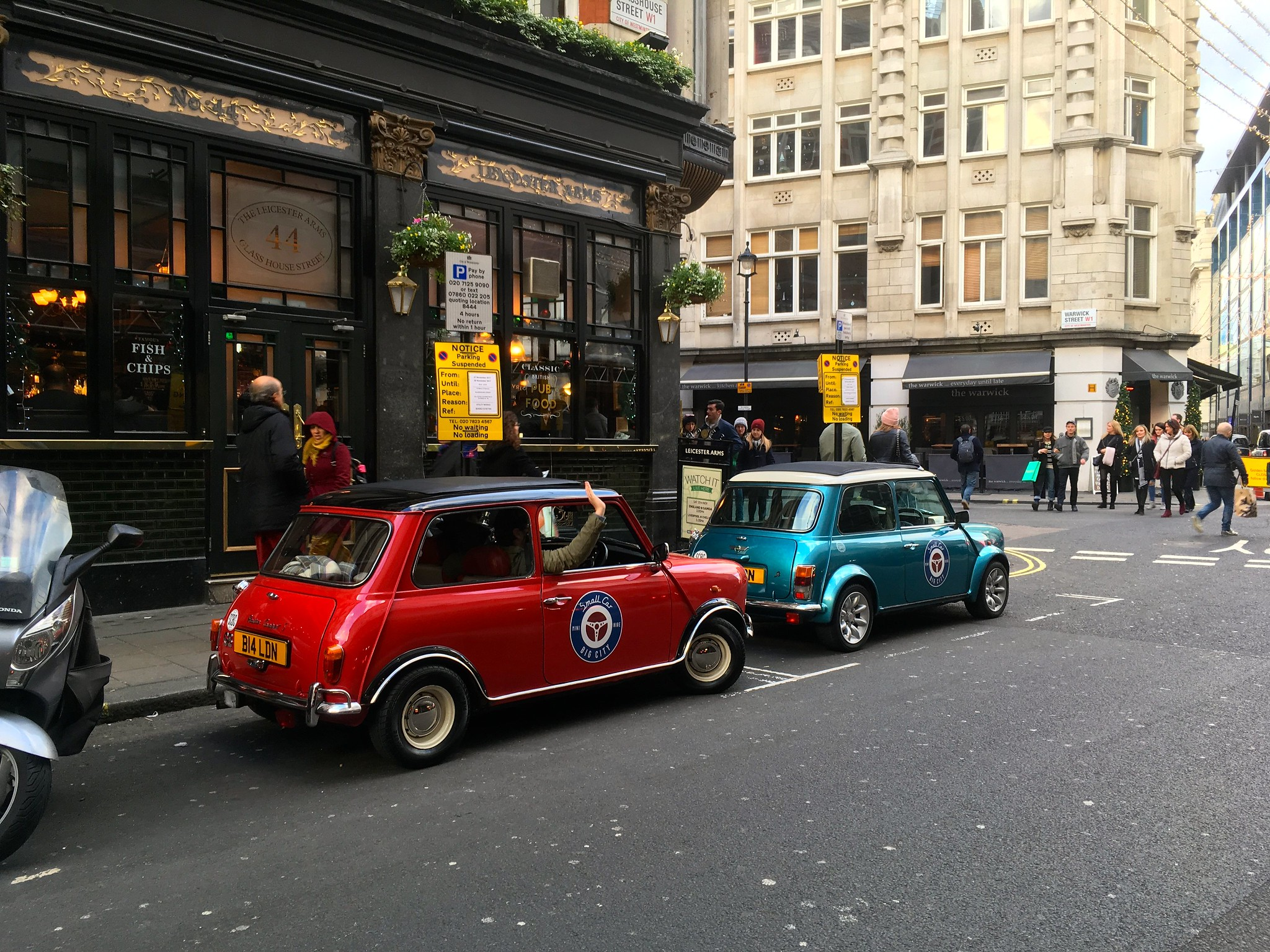 mini cooper fish and chips down town