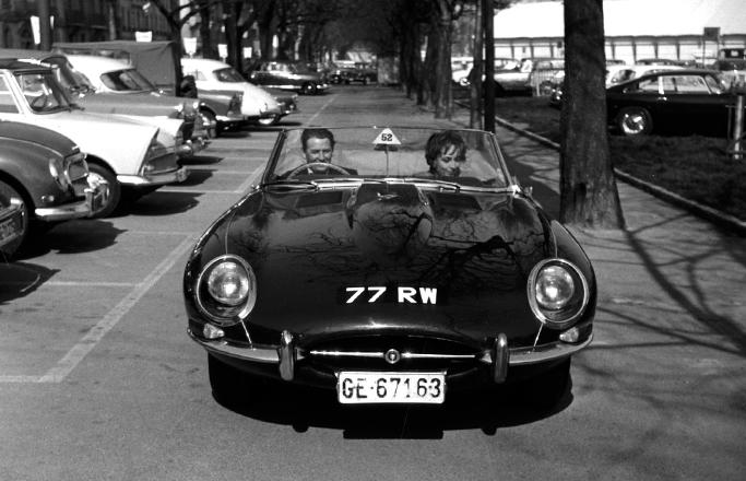 Jaguar E-Type roadster 1961 Geneva 77 RW