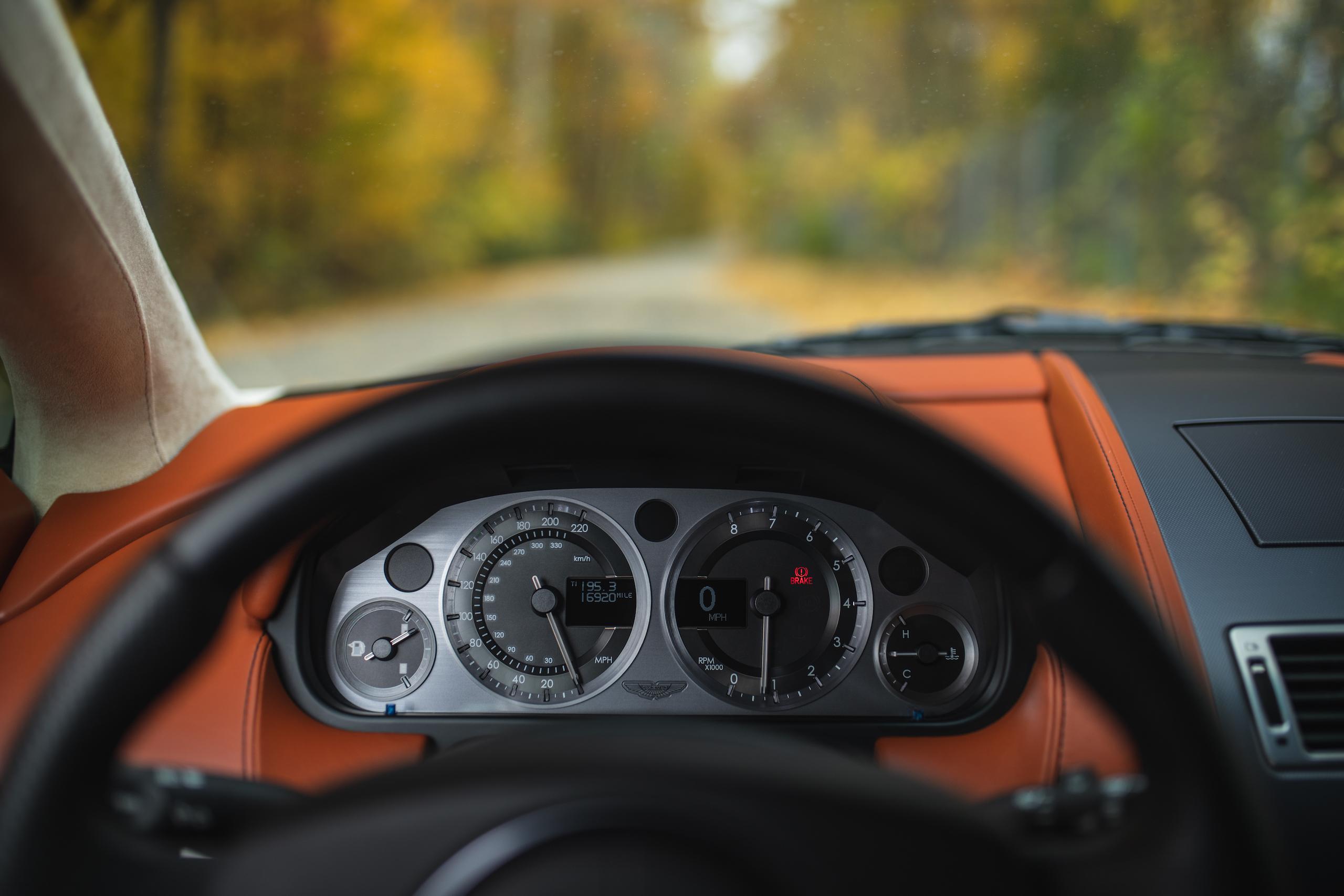 2007 Aston Martin Vantage V8 driver view