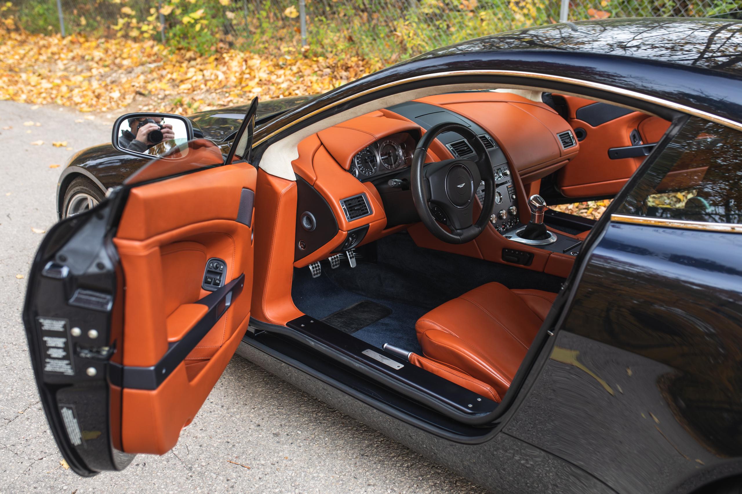 2007 Aston Martin Vantage V8 interior driver door open