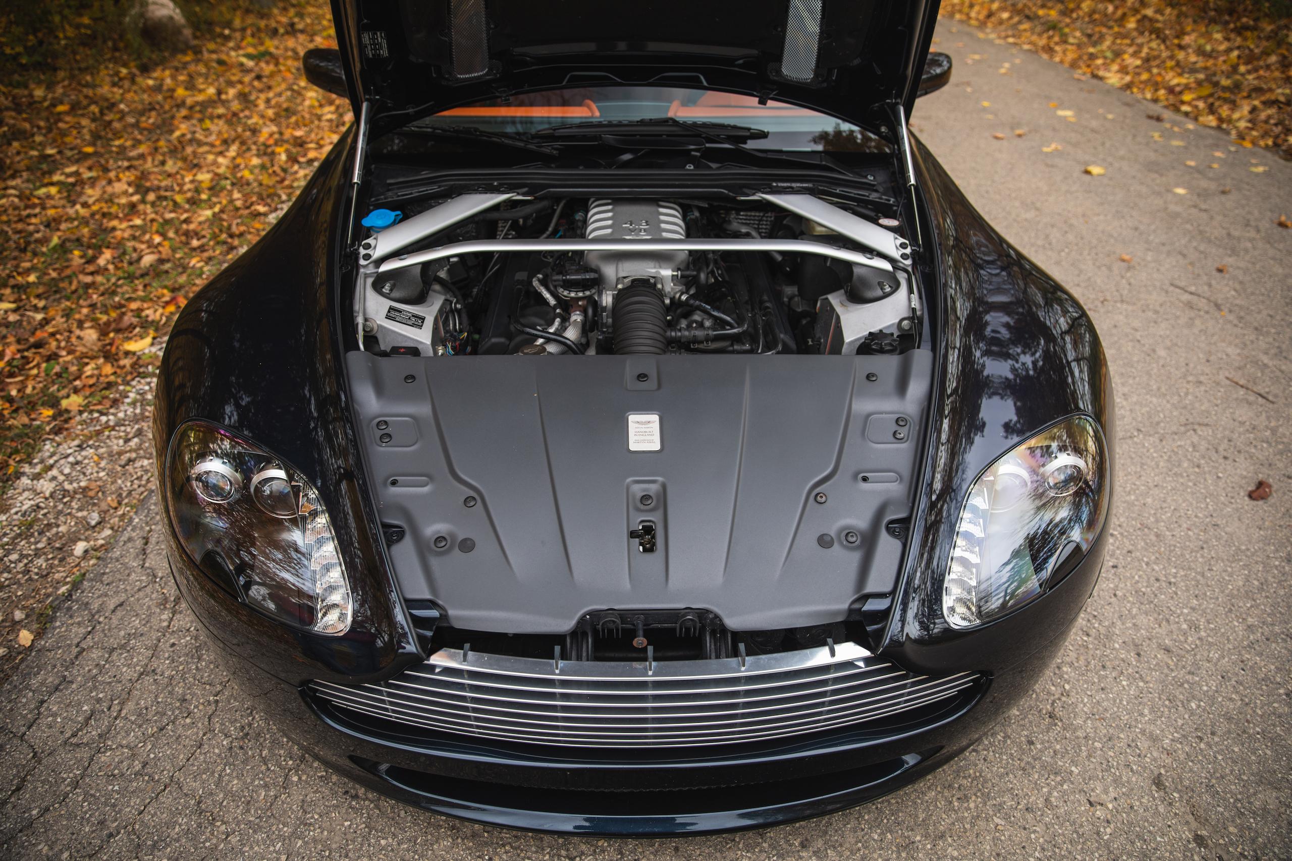 2007 Aston Martin Vantage V8 front engine bay