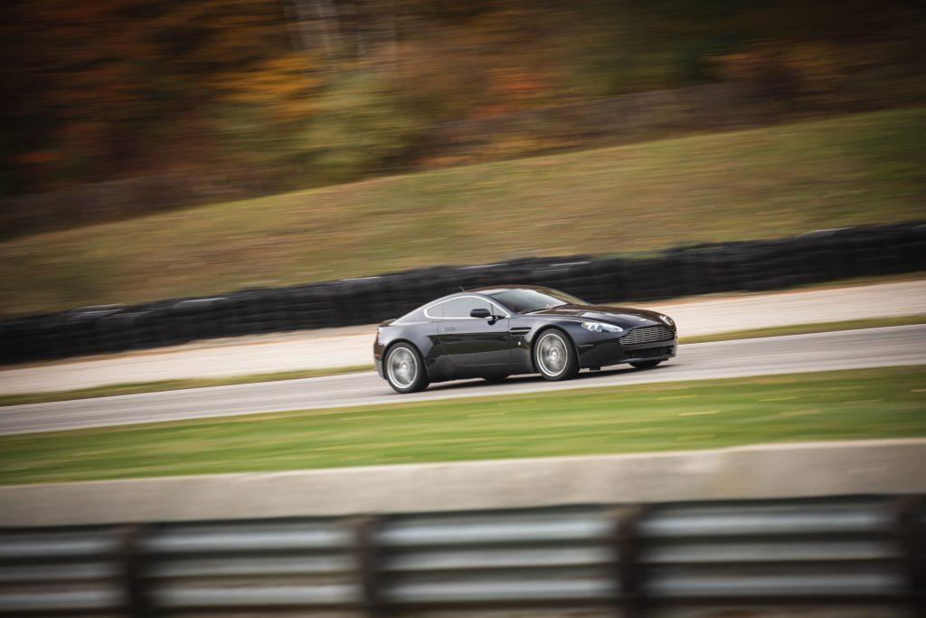 2007 Aston Martin Vantage V8 driving action