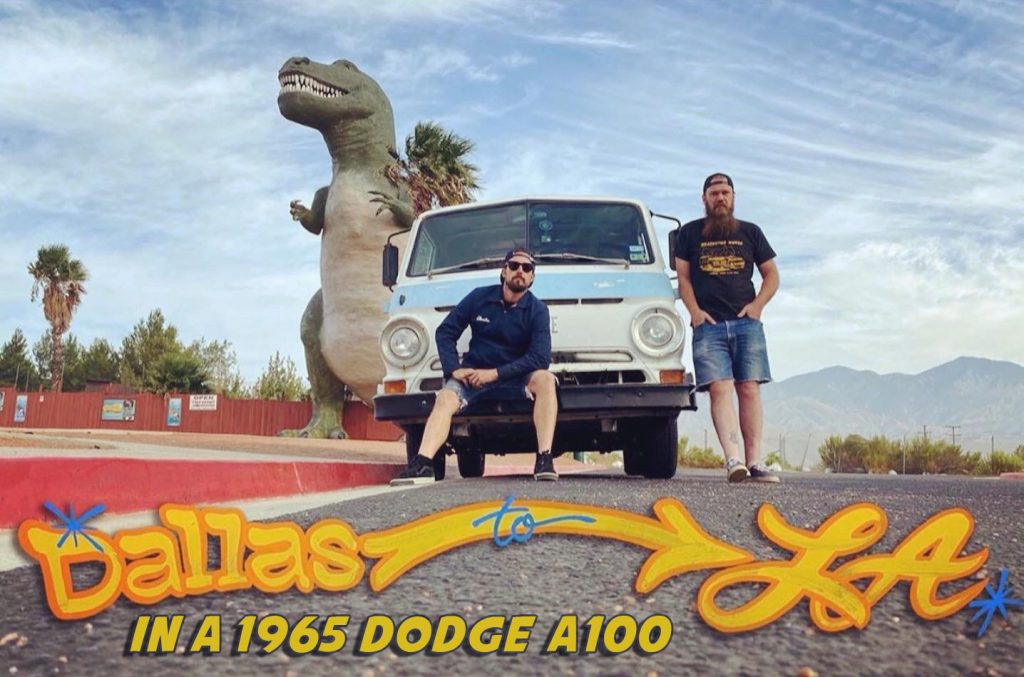 A100 Van Road Trip dinosaur museum