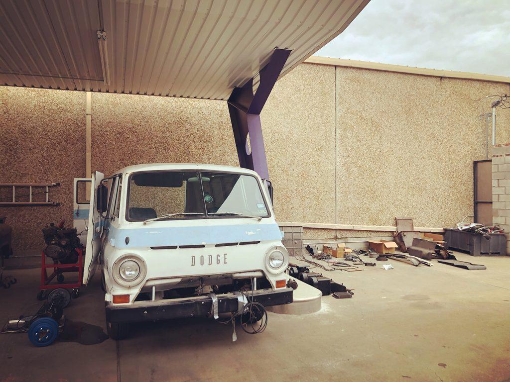 A100 Van front under roof