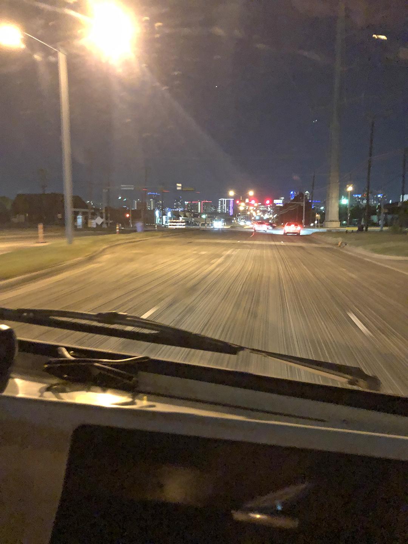 A100 Van front window road action