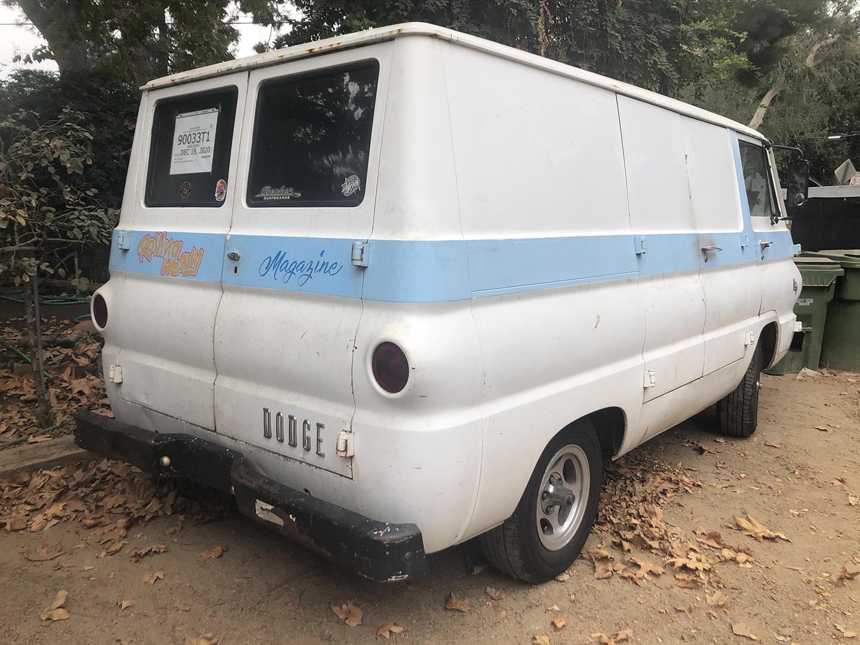 A100 Van rear three-quarter