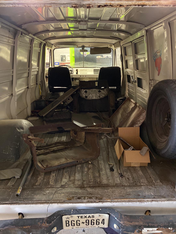 A100 Van interior rear cargo area parts