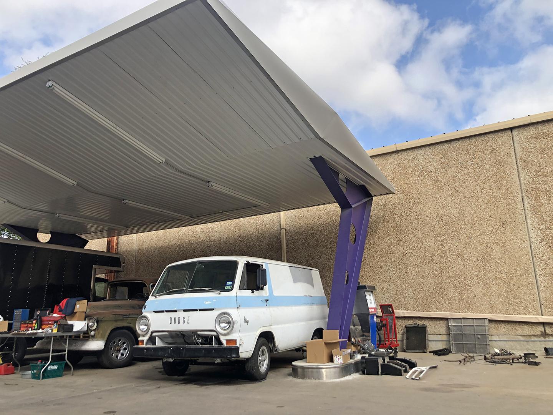 A100 Van front three-quarter under roof
