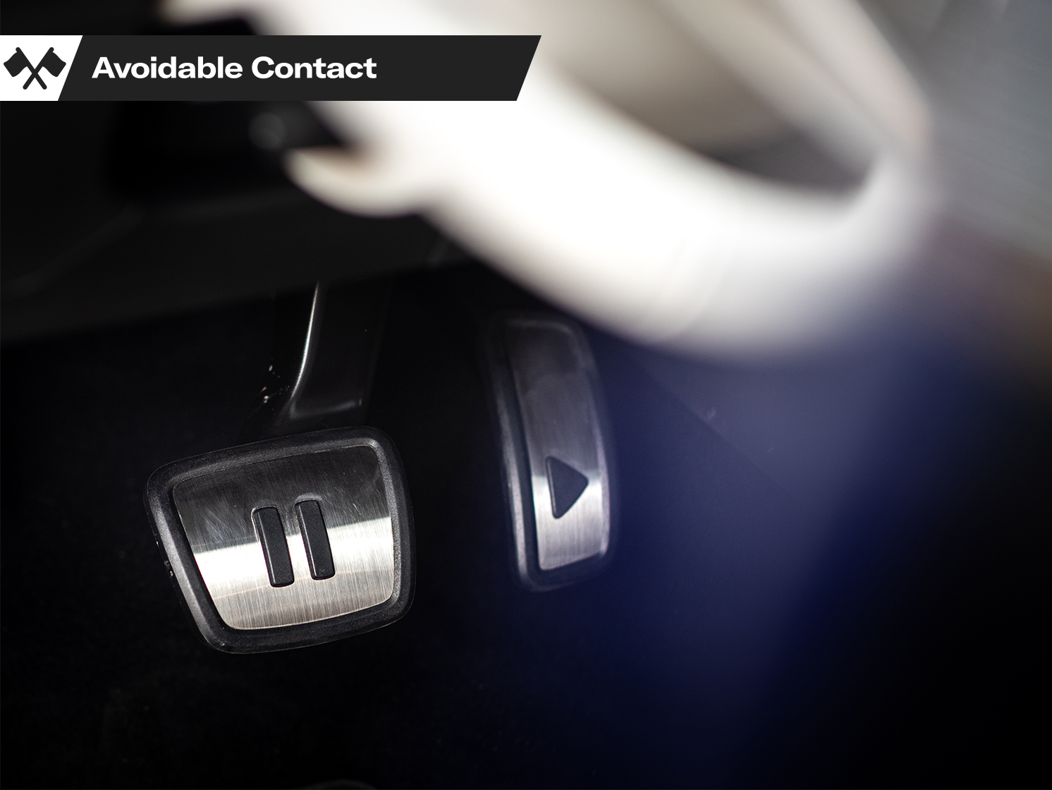 VW Volkswagen EV Play Pause Foot Pedals Avoidable Contact