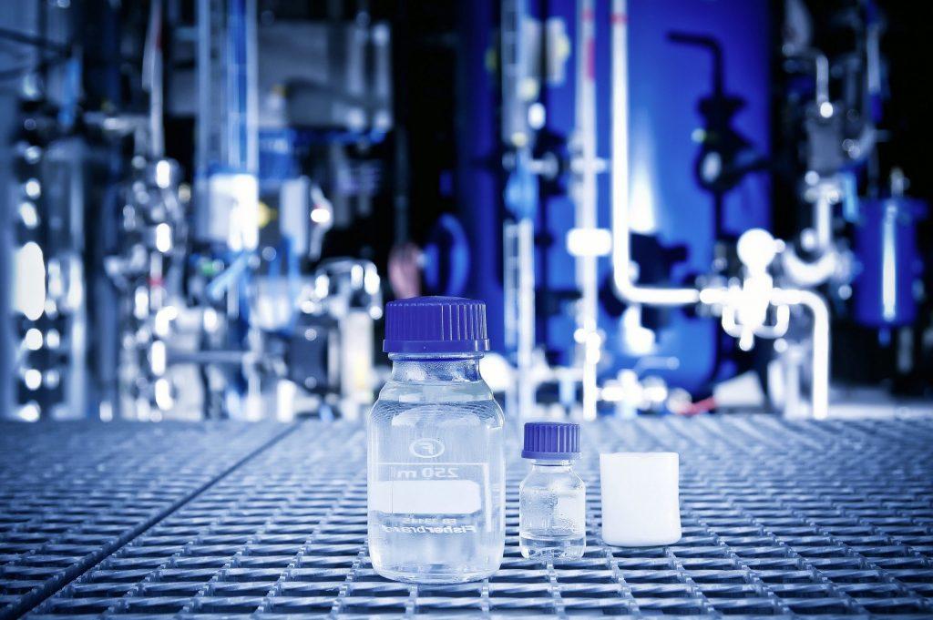 fuel liquid testing vial close up