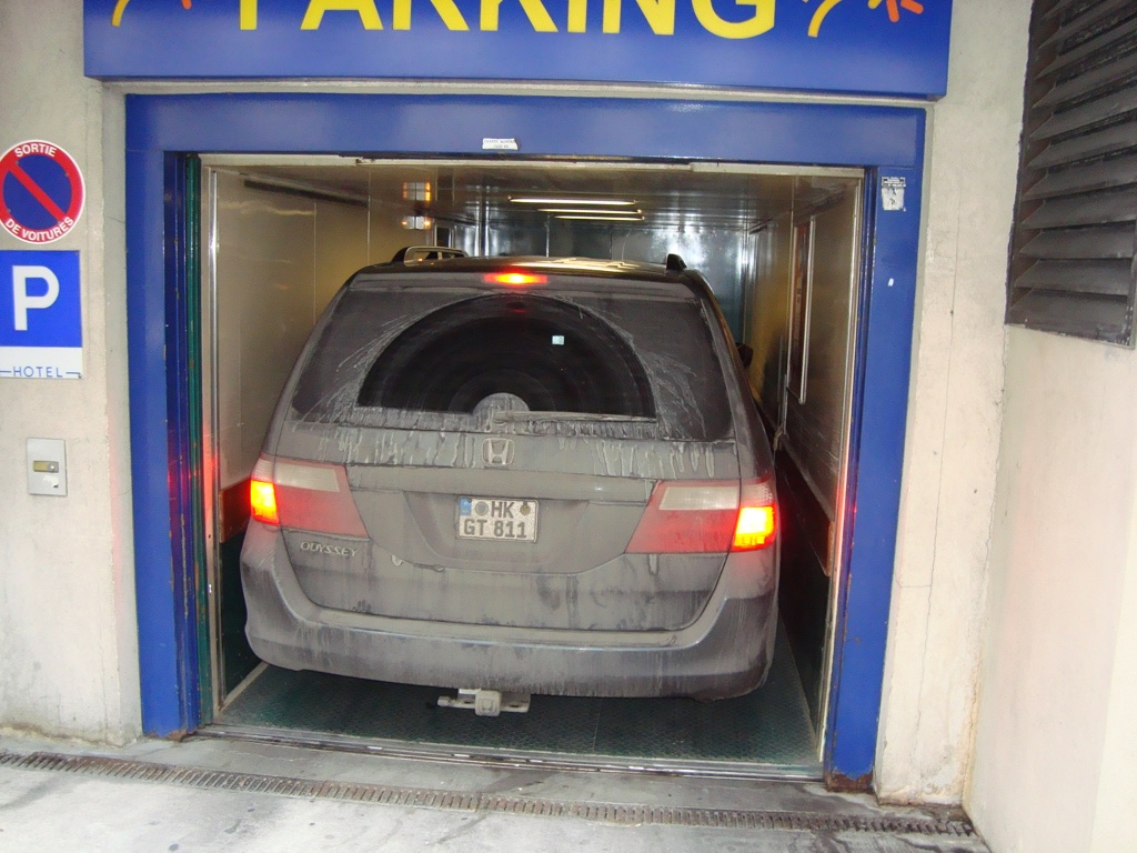 honda odyssey rear parking elevator