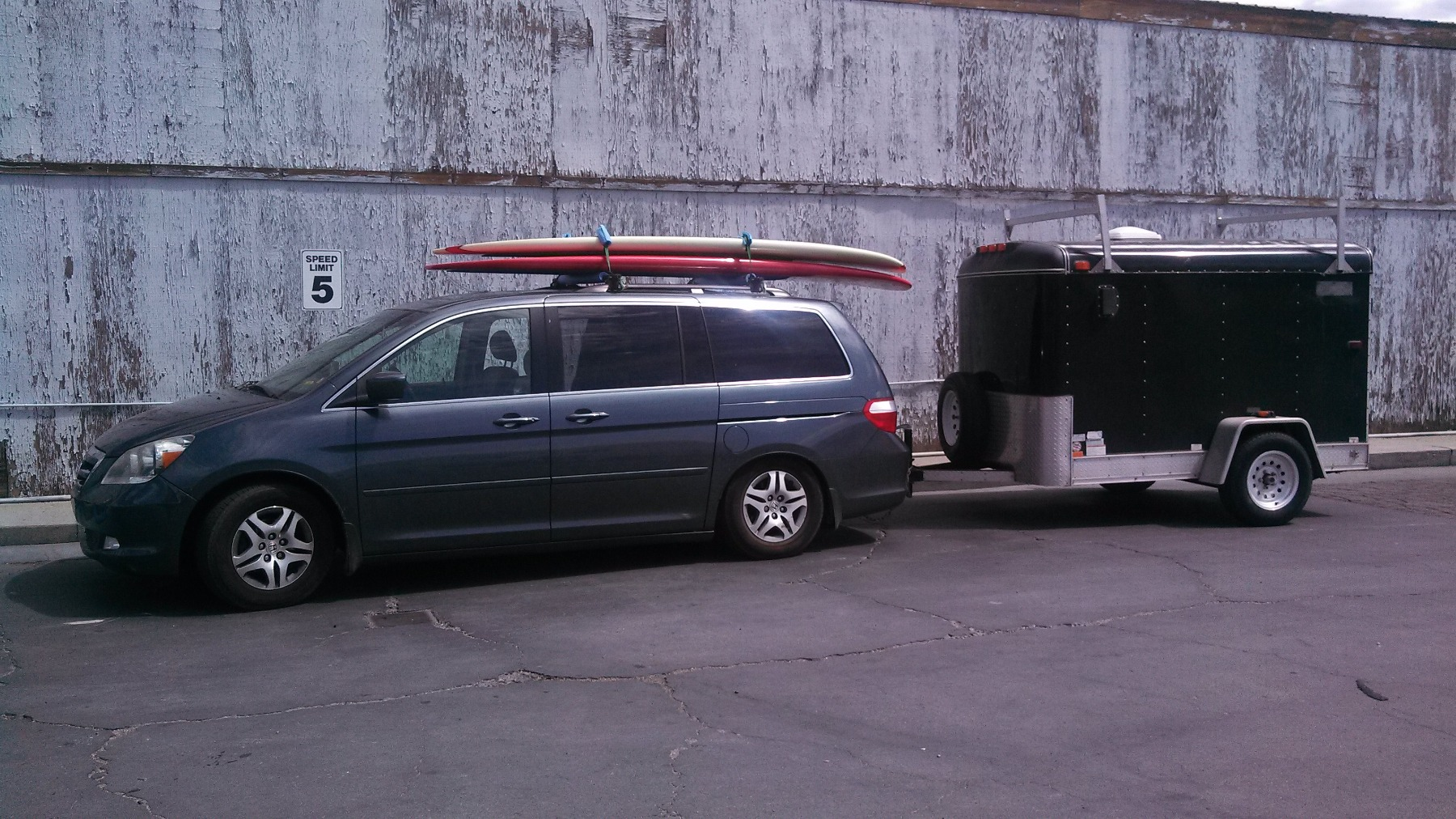 honda odyssey paddleboards and trailer