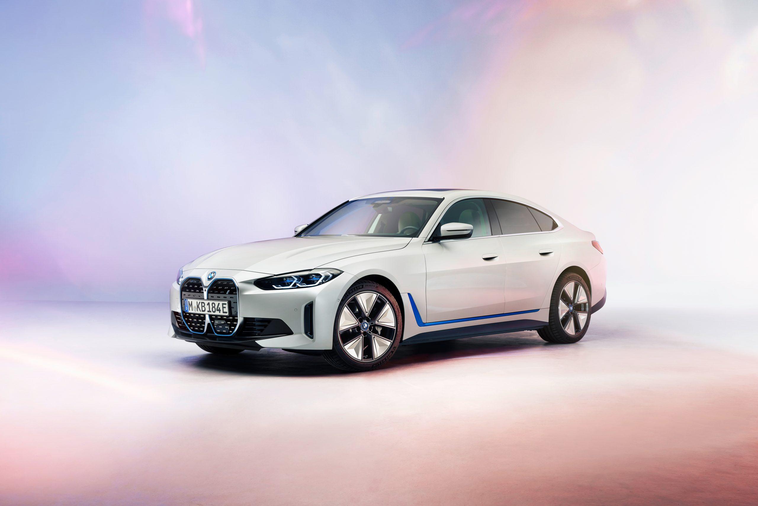 BMW i4 front three-quarter