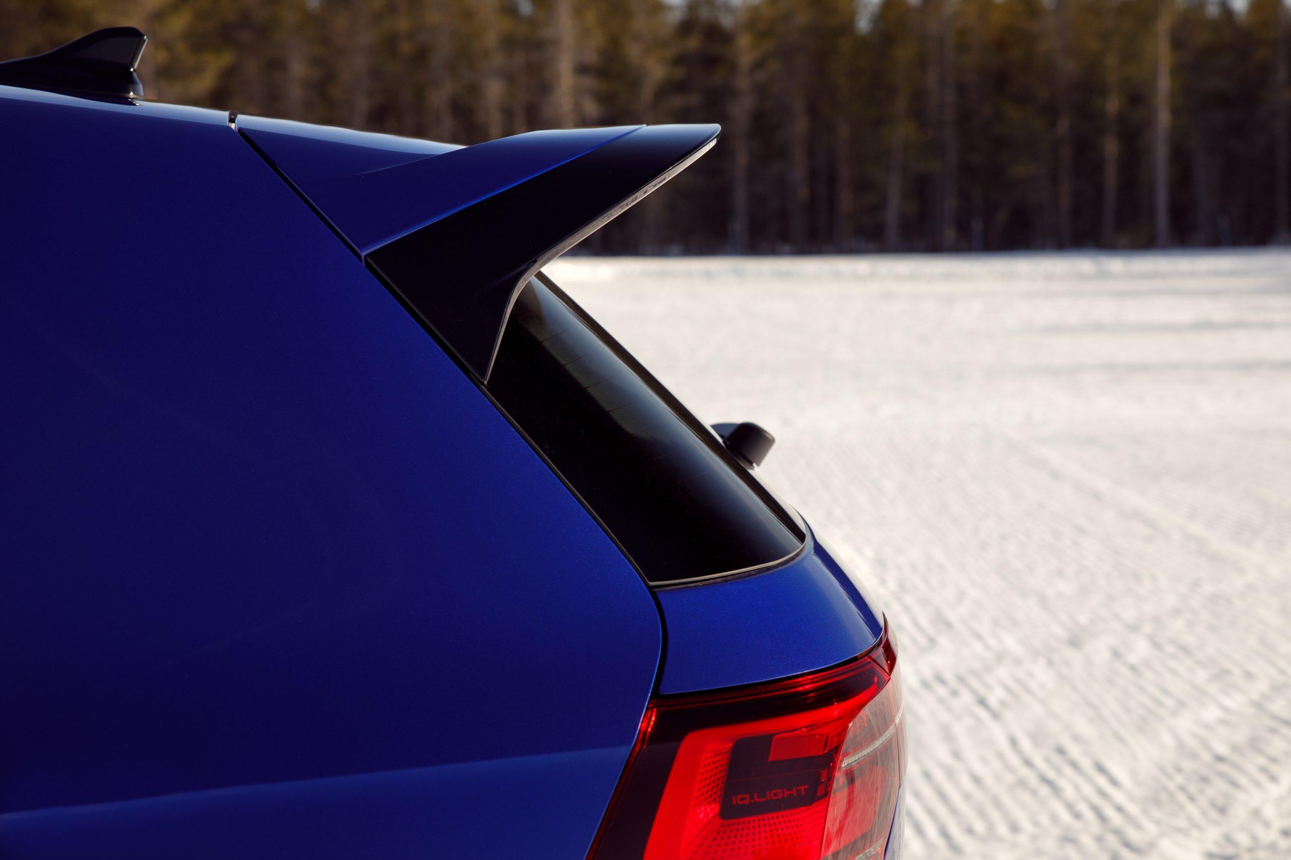 2022 Volkswagen Golf R rear spoiler profile