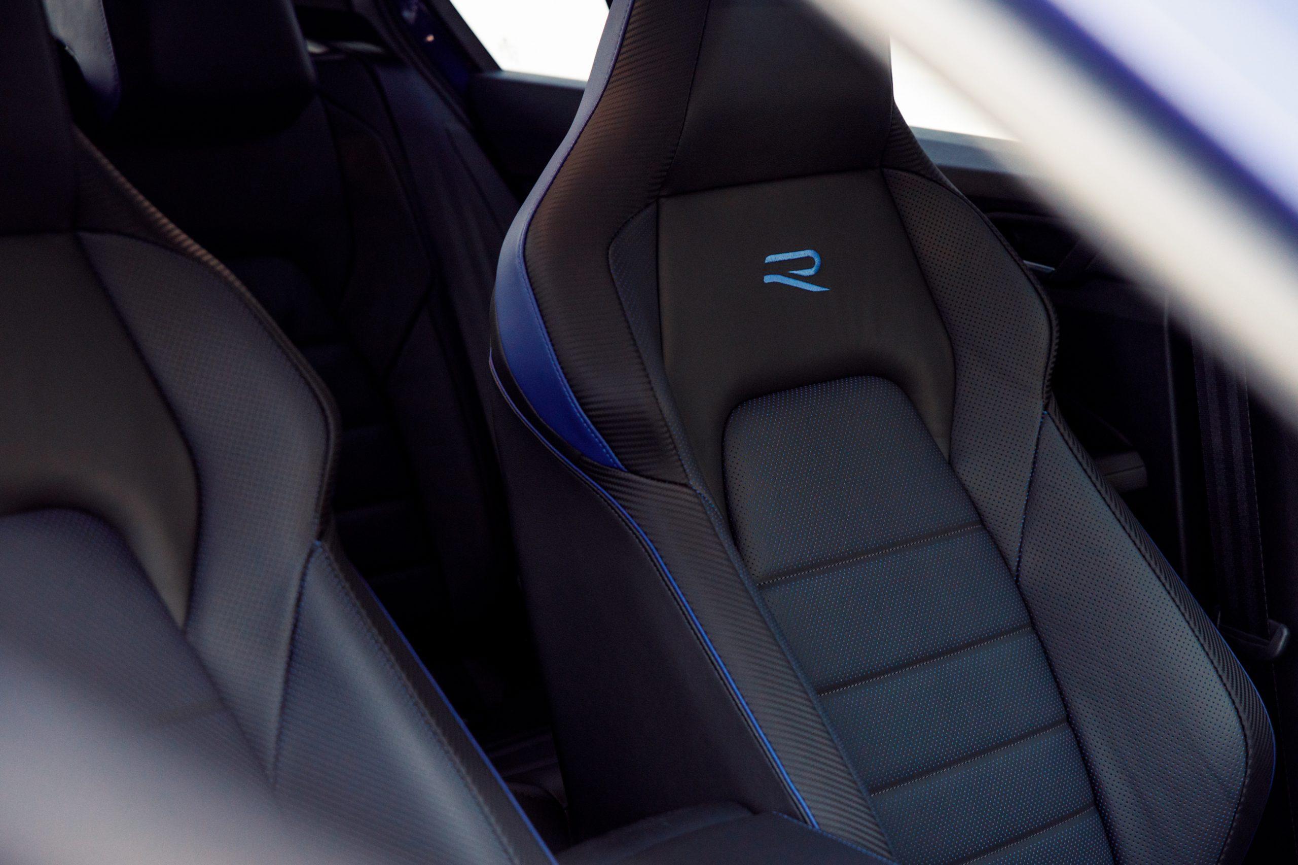 2022 Volkswagen Golf R driver seat detail