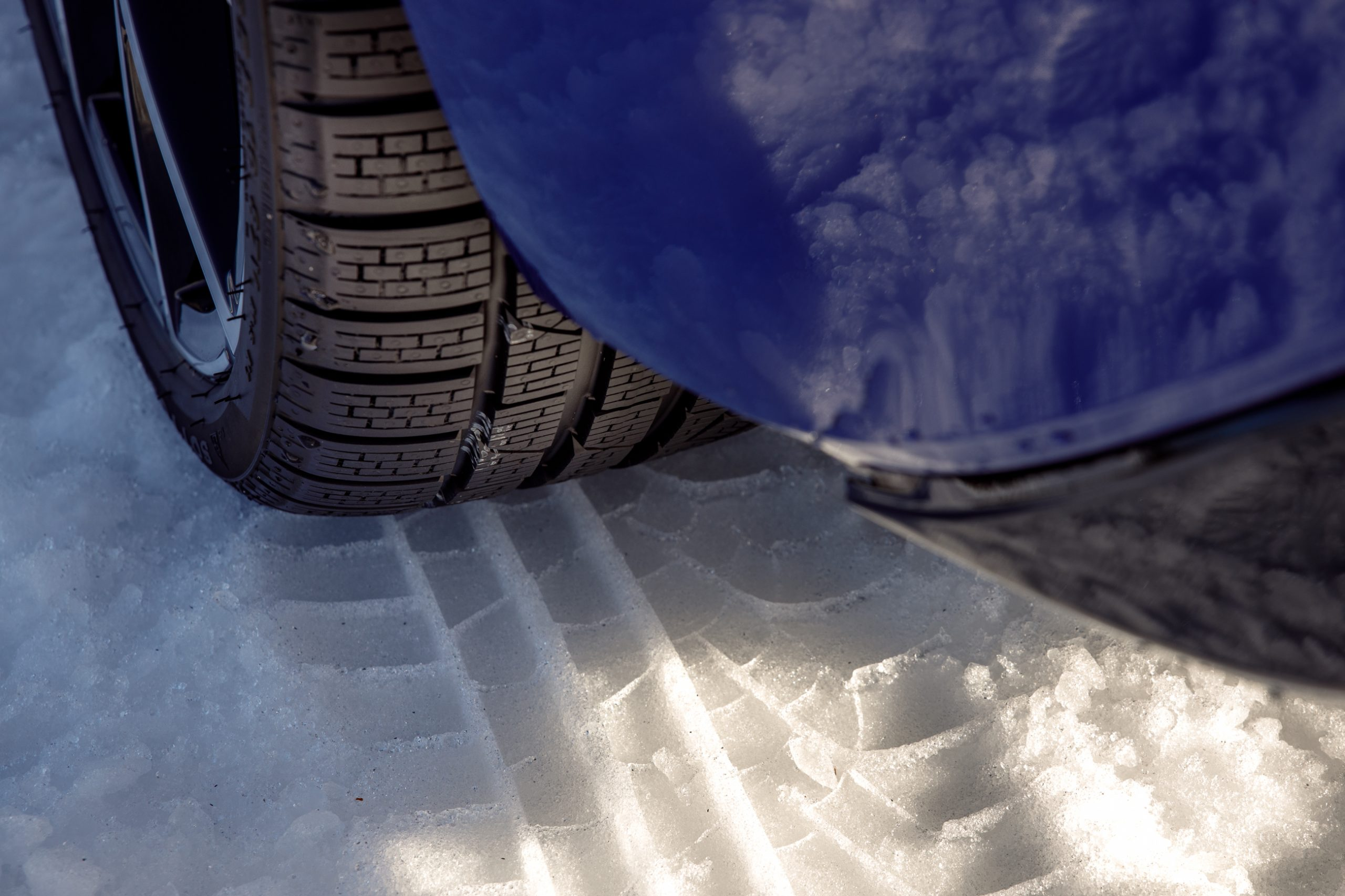 2022 Volkswagen Golf R winter tire tread detail