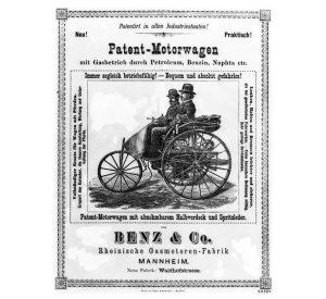 Benz Patent-Motorwagen ad 1880s