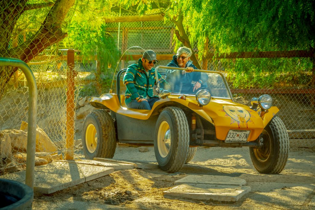Meyers Manx Dune Buggy front three-quarter owner drives
