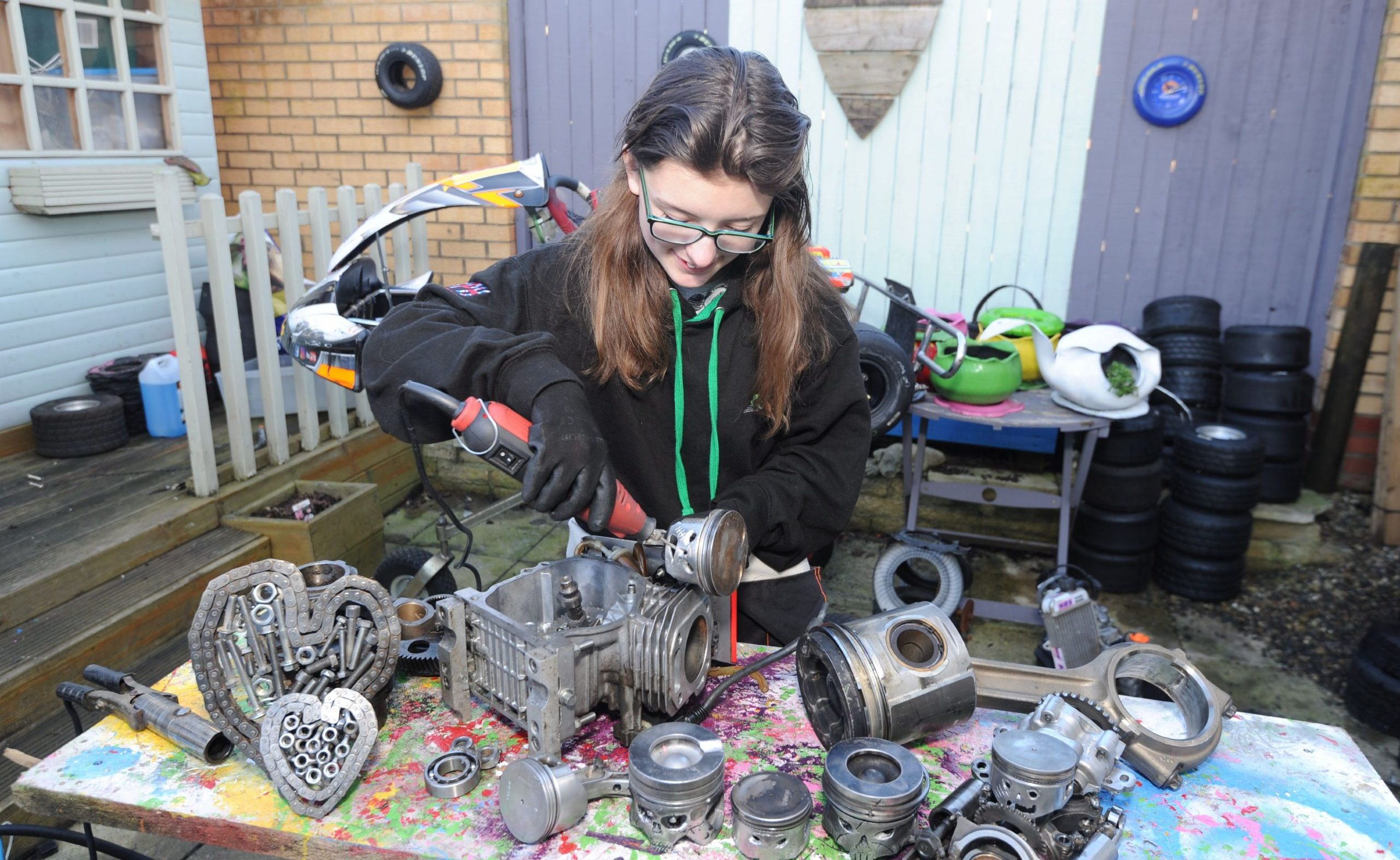 Catherine Potter art making