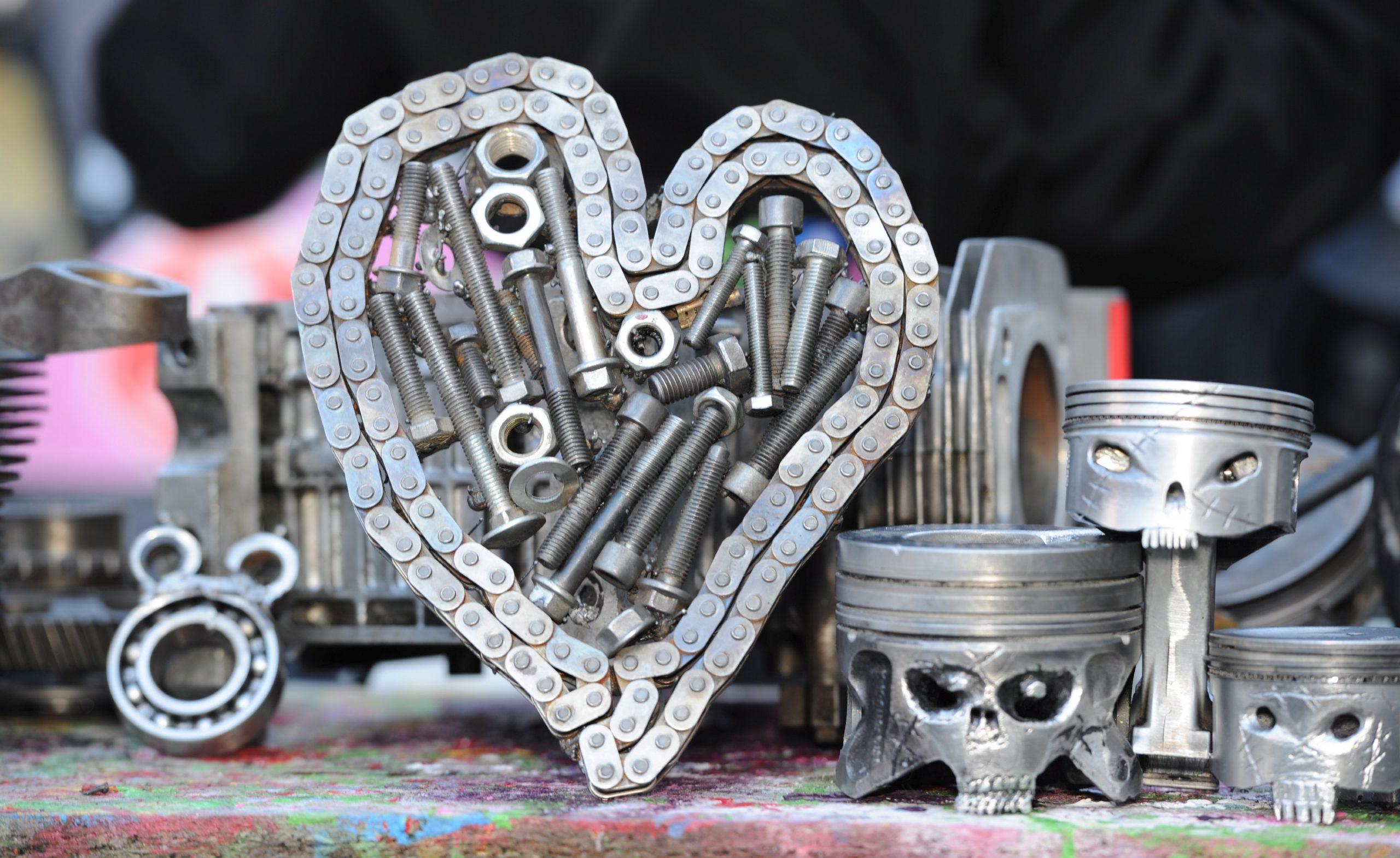 Catherine Potter engine chain piston art