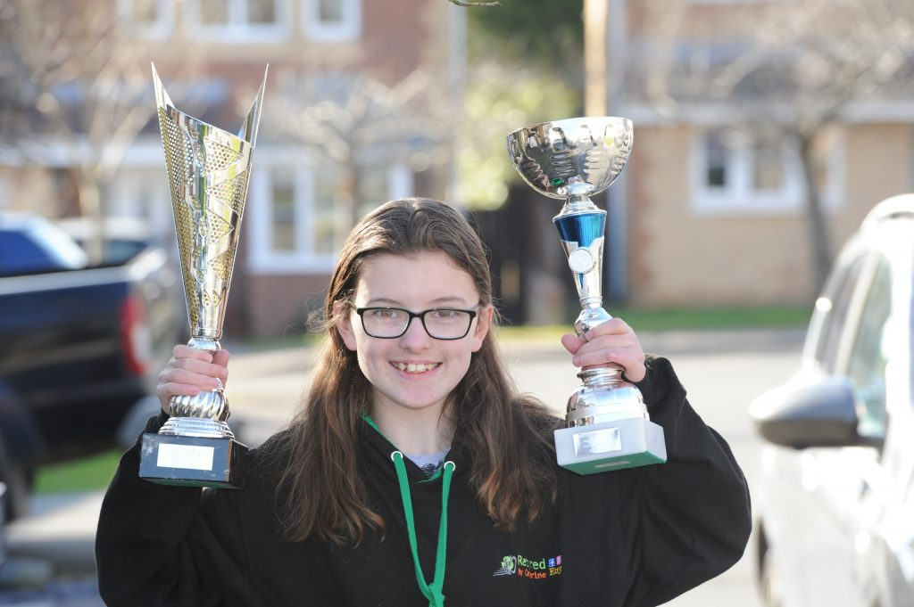 Catherine Potter two trophies