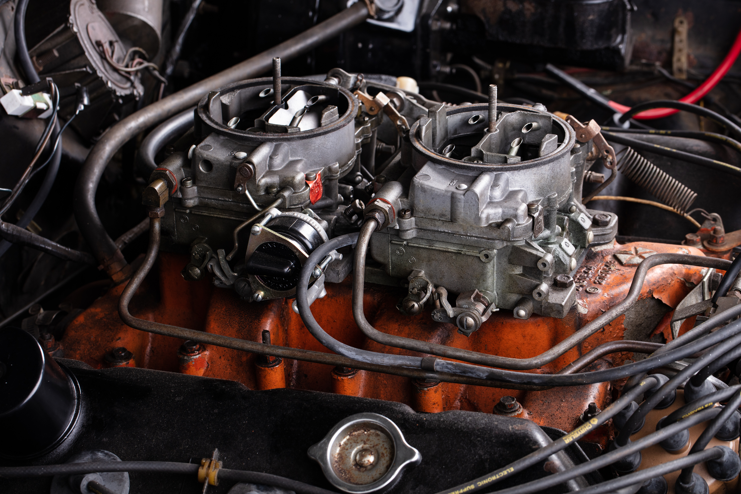 black ghost challenger engine carbs close