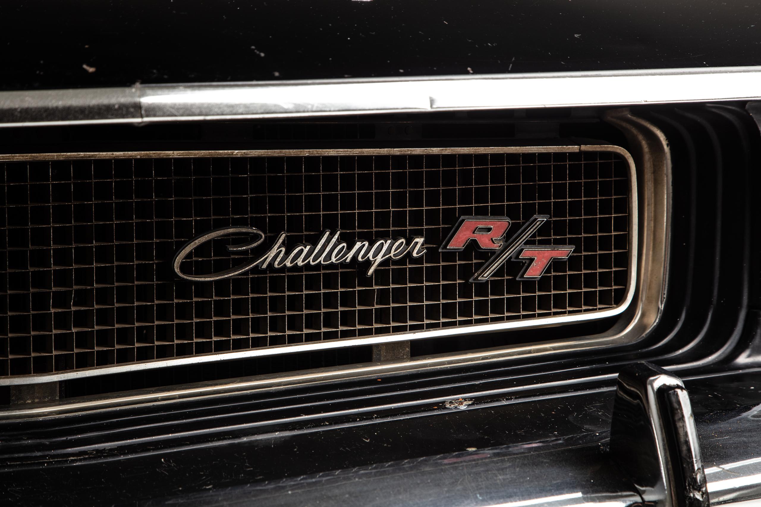 black ghost challenger grille badge detail