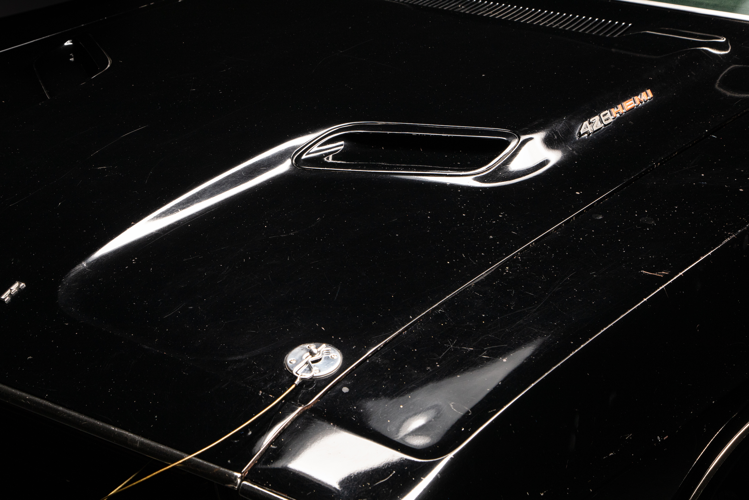 black ghost challenger hood vent detail