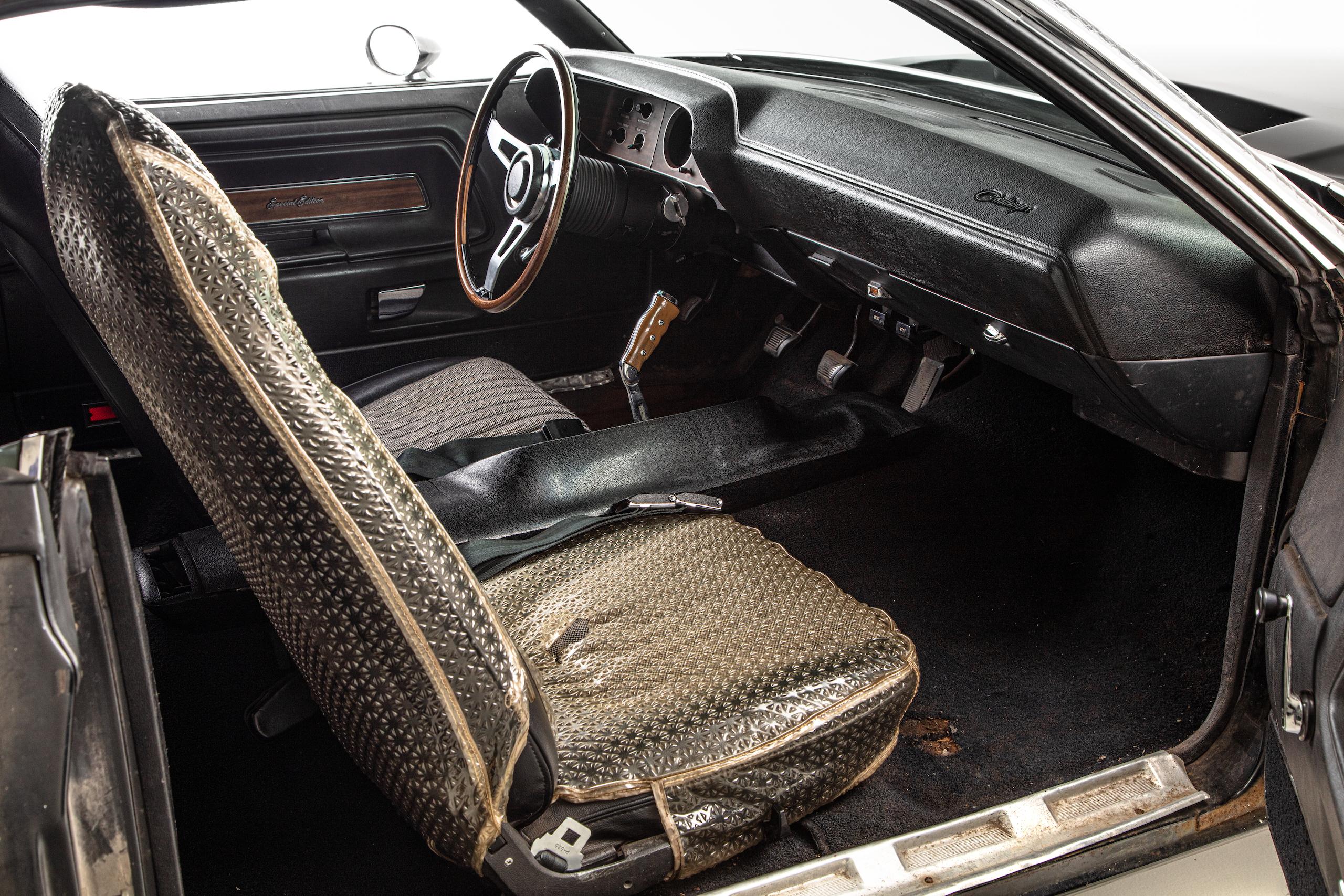 black ghost challenger interior passenger seat