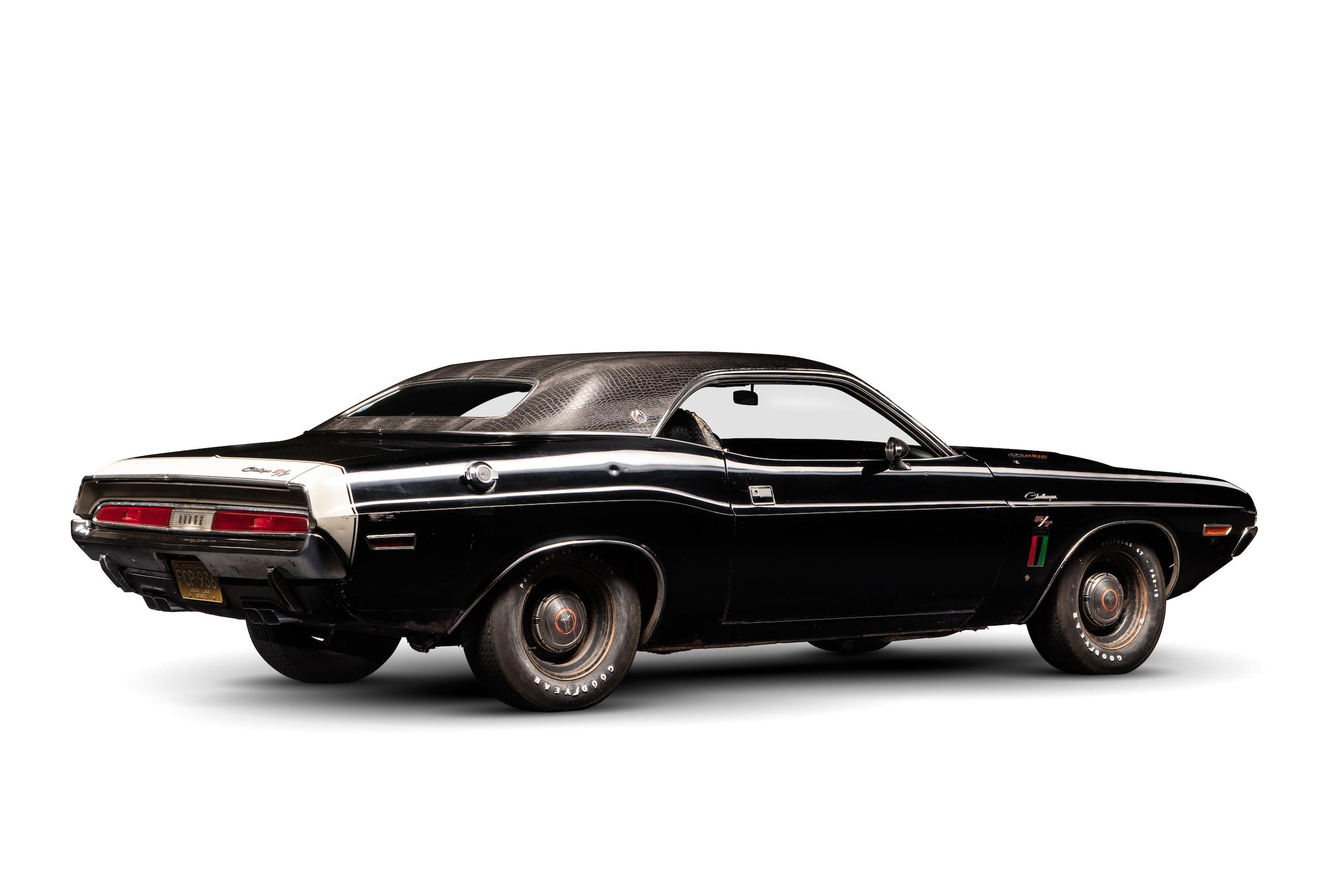 black ghost challenger rear three-quarter studio white