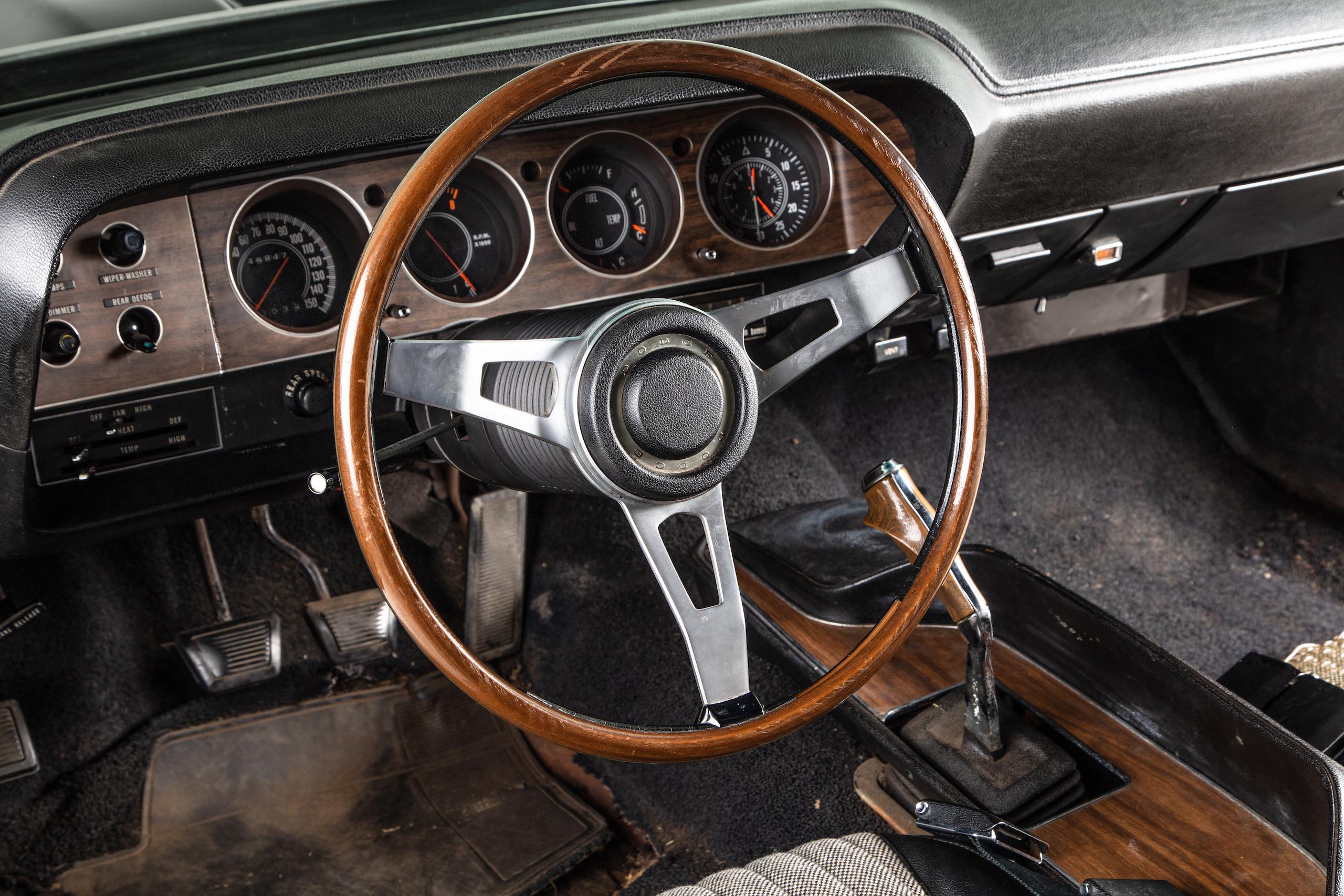 black ghost challenger interior steering wheel