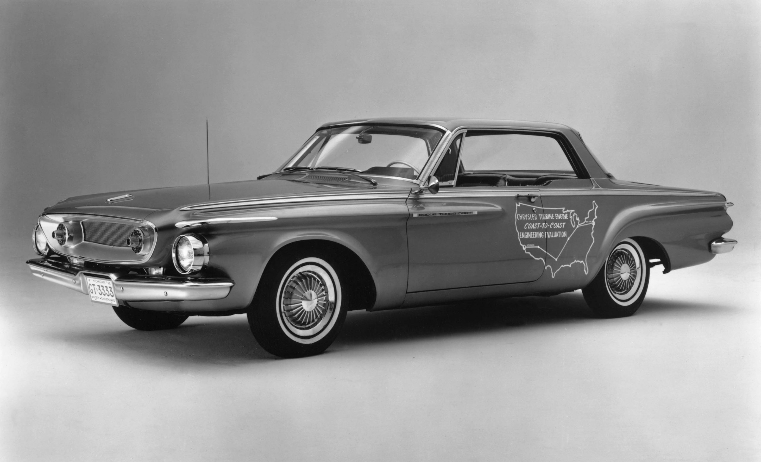 Chrysler Turbine history - 1962 Dodge Turbo Dart left front