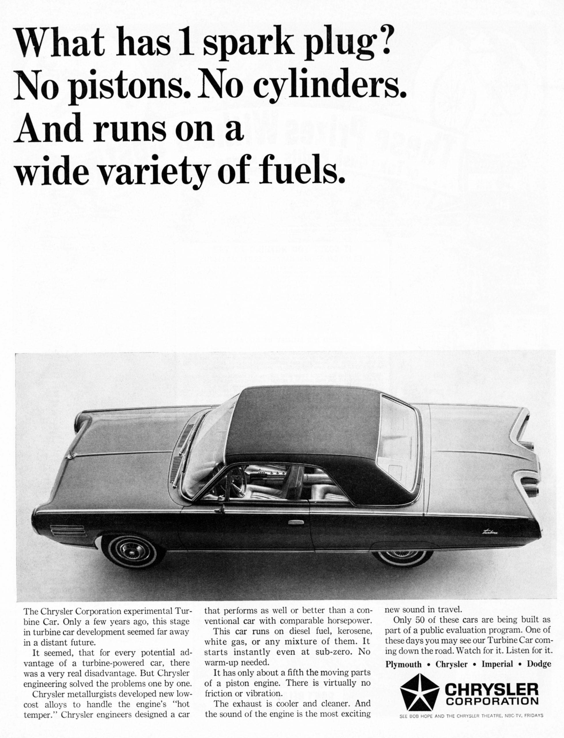 Chrysler Turbine history - 1964 Chrysler Turbine Ad