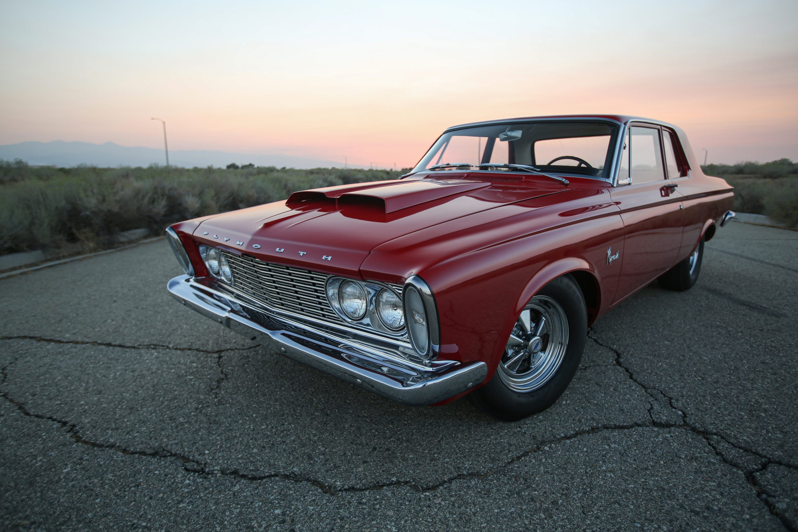 1963 Plymouth 426 Max Wedge lightweight front three-quarter close