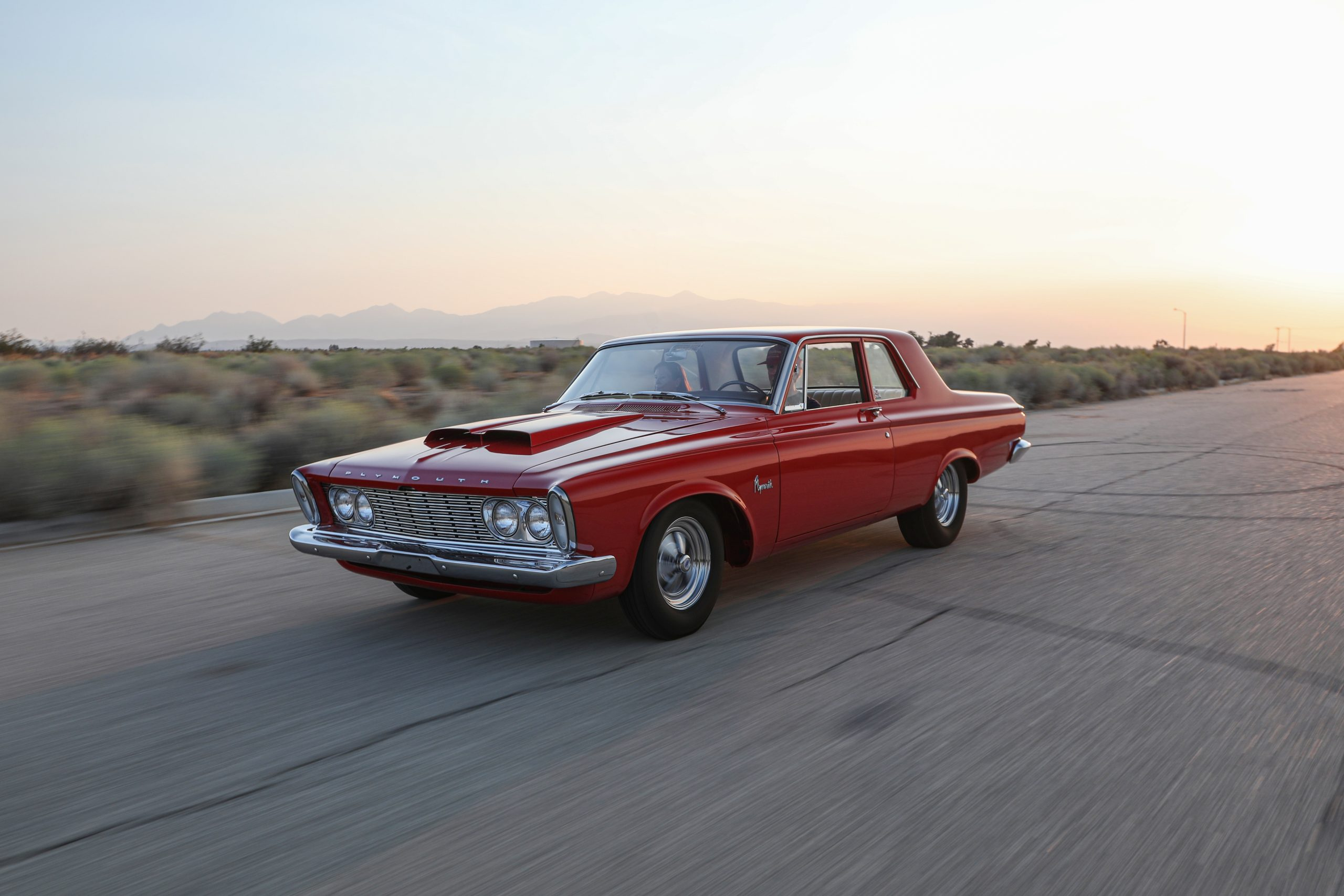 1963 Plymouth 426 Max Wedge lightweight front three-quarter action