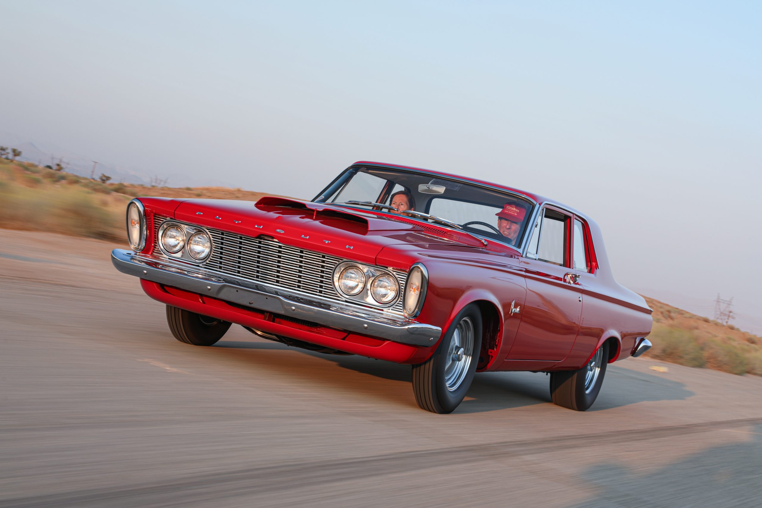 1963 Plymouth 426 Max Wedge lightweight driving